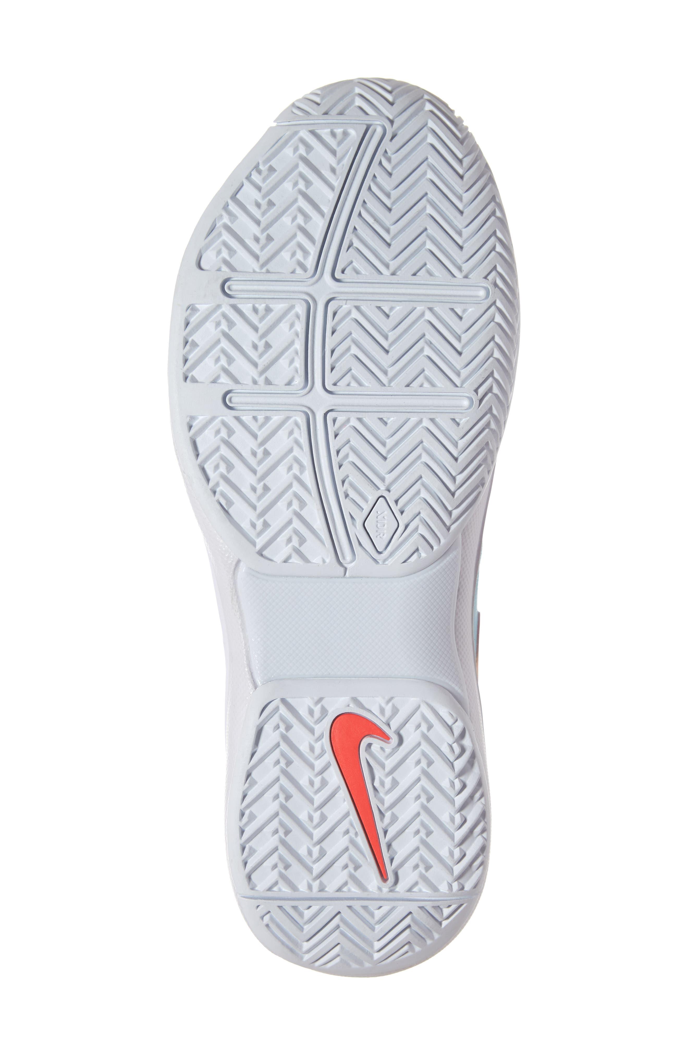 Air Zoom Prestige Tennis Shoe,                             Alternate thumbnail 6, color,                             BLUE/ BRIGHT CRIMSON-TOPAZ
