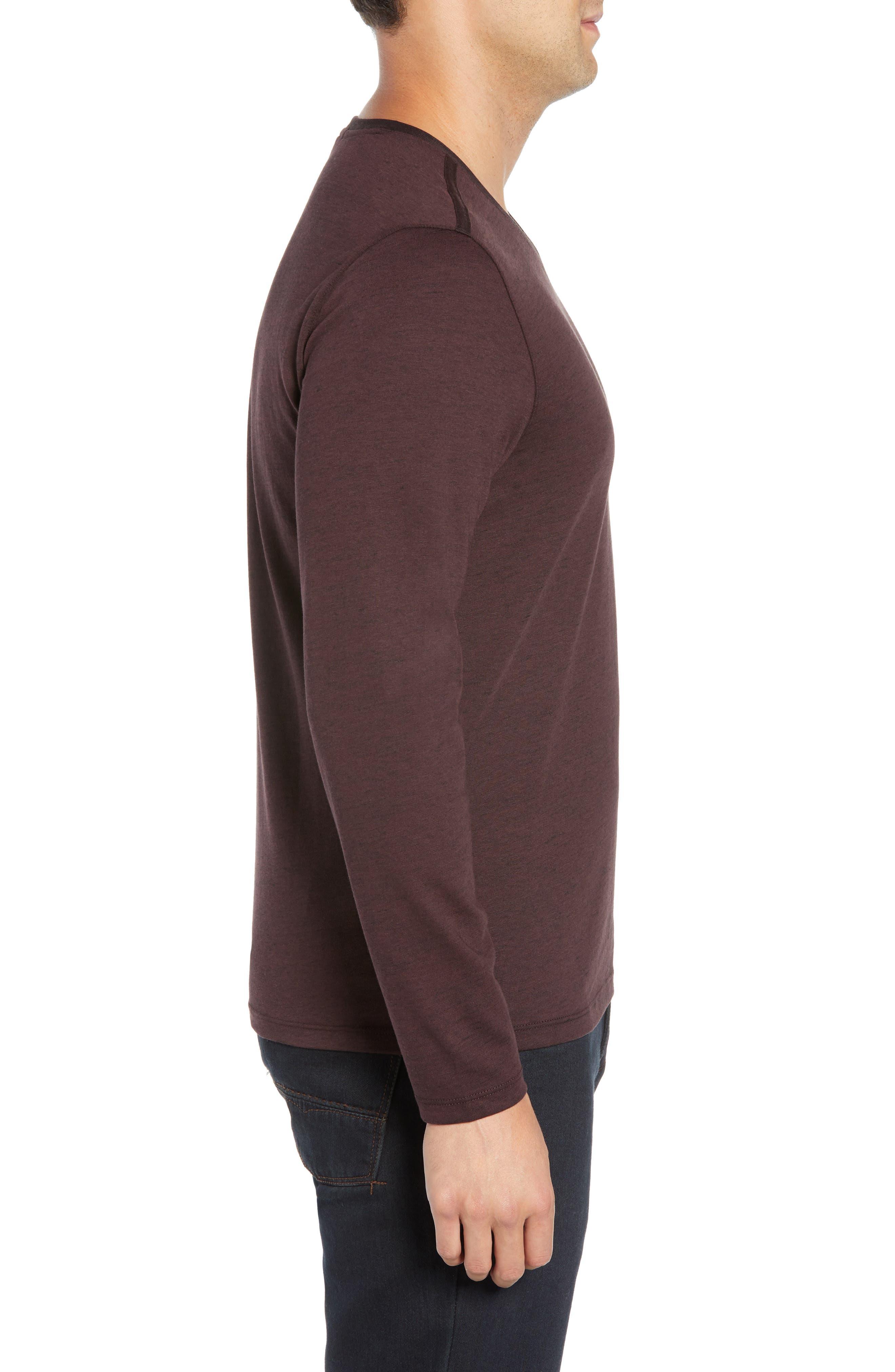Flatrock Regular Fit V-Neck T-Shirt,                             Alternate thumbnail 3, color,                             PORT