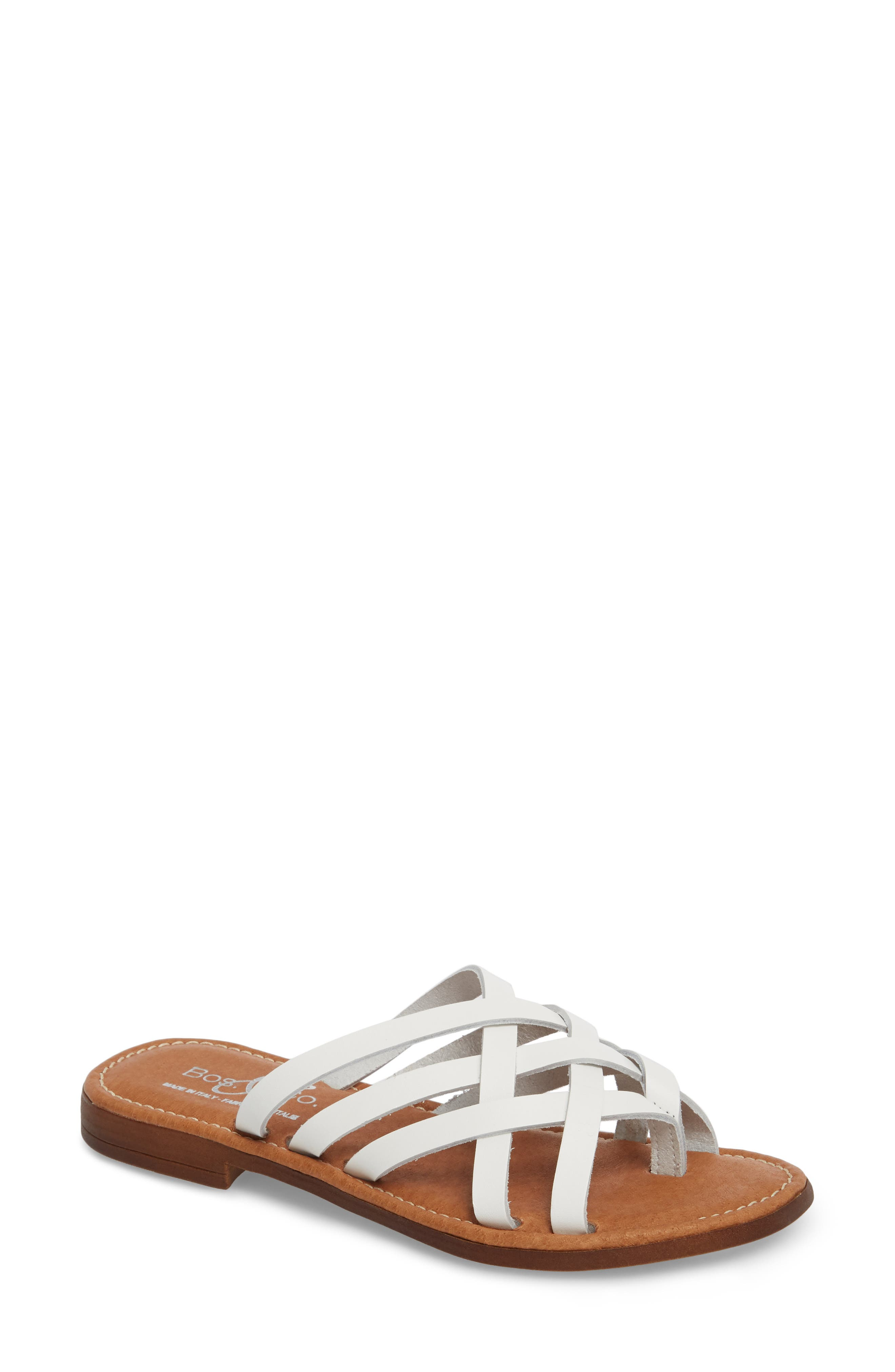 Bos. & Co. Inola Slide Sandal - White