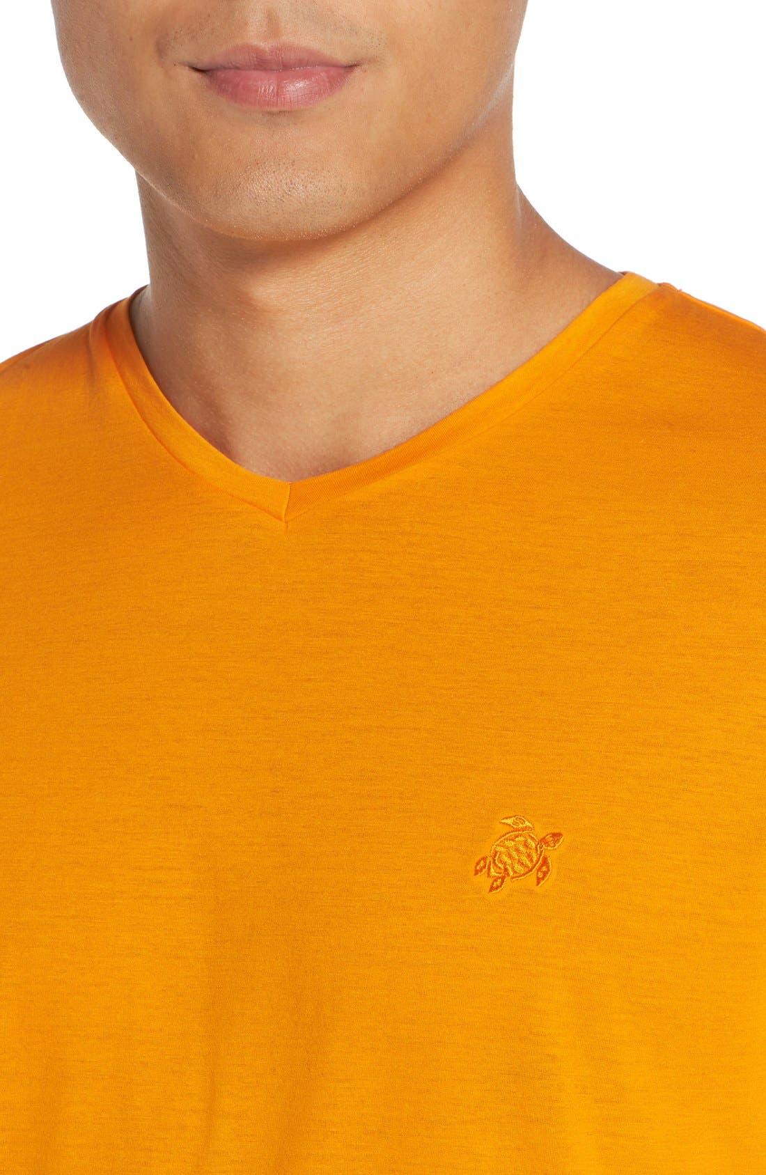V-Neck T-Shirt,                             Alternate thumbnail 4, color,                             KUMQUAT