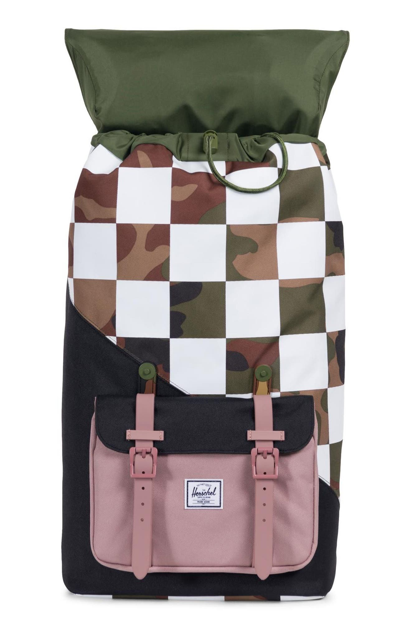 Little America Kaleidoscope Backpack,                             Alternate thumbnail 3, color,                             WOODLAND CAMO