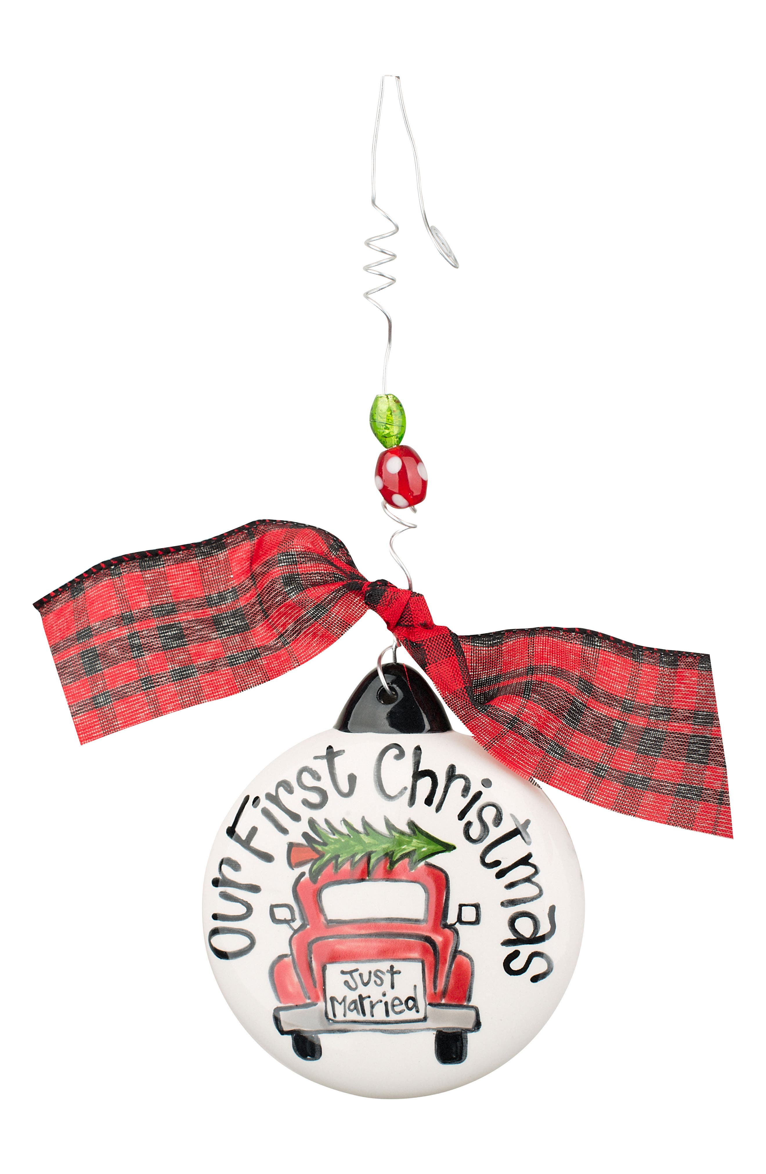Our First Christmas Ceramic Ornament,                             Main thumbnail 1, color,                             900