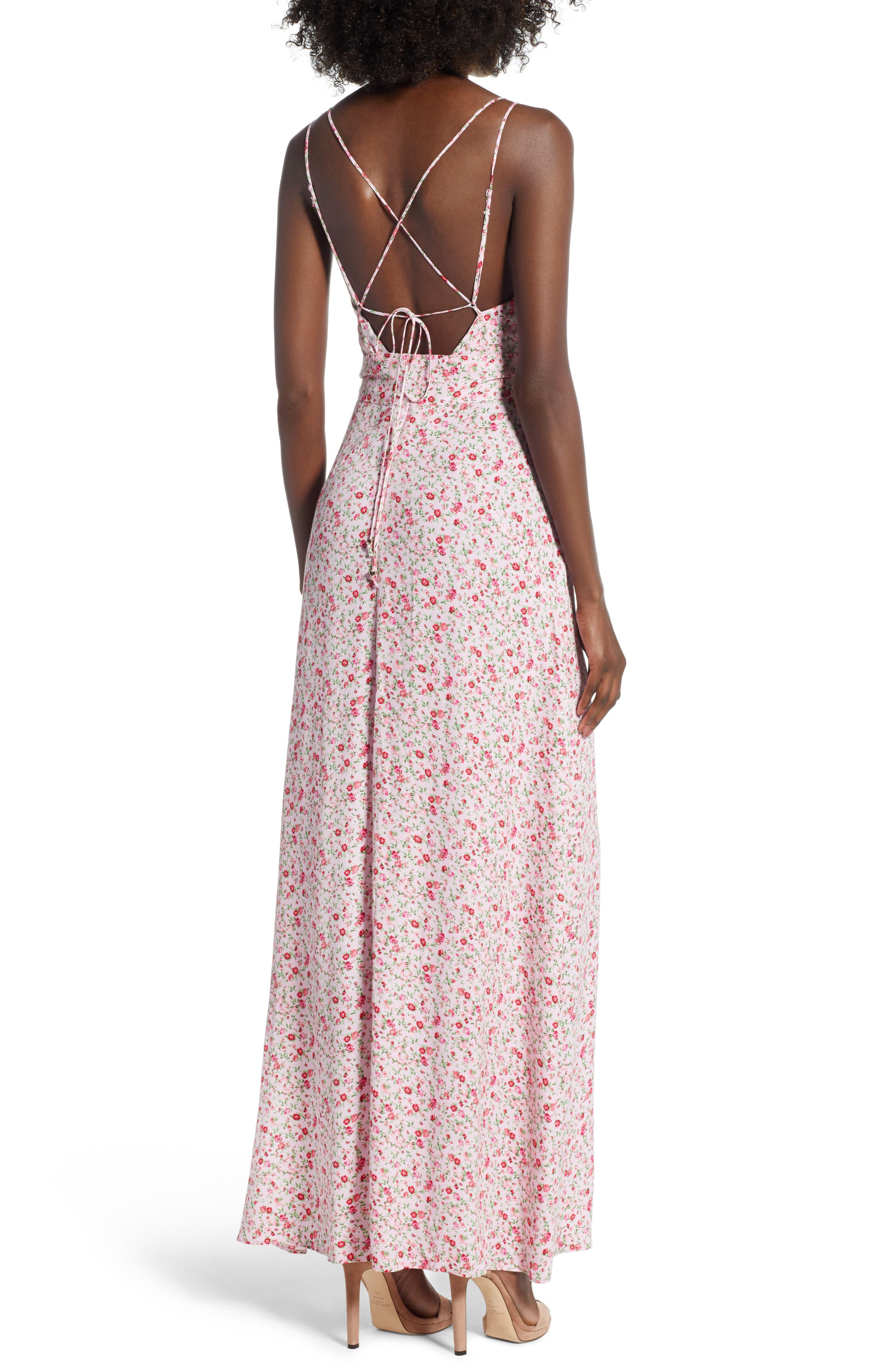 Diego Maxi Dress,                             Alternate thumbnail 2, color,                             BABY PINK DITSY