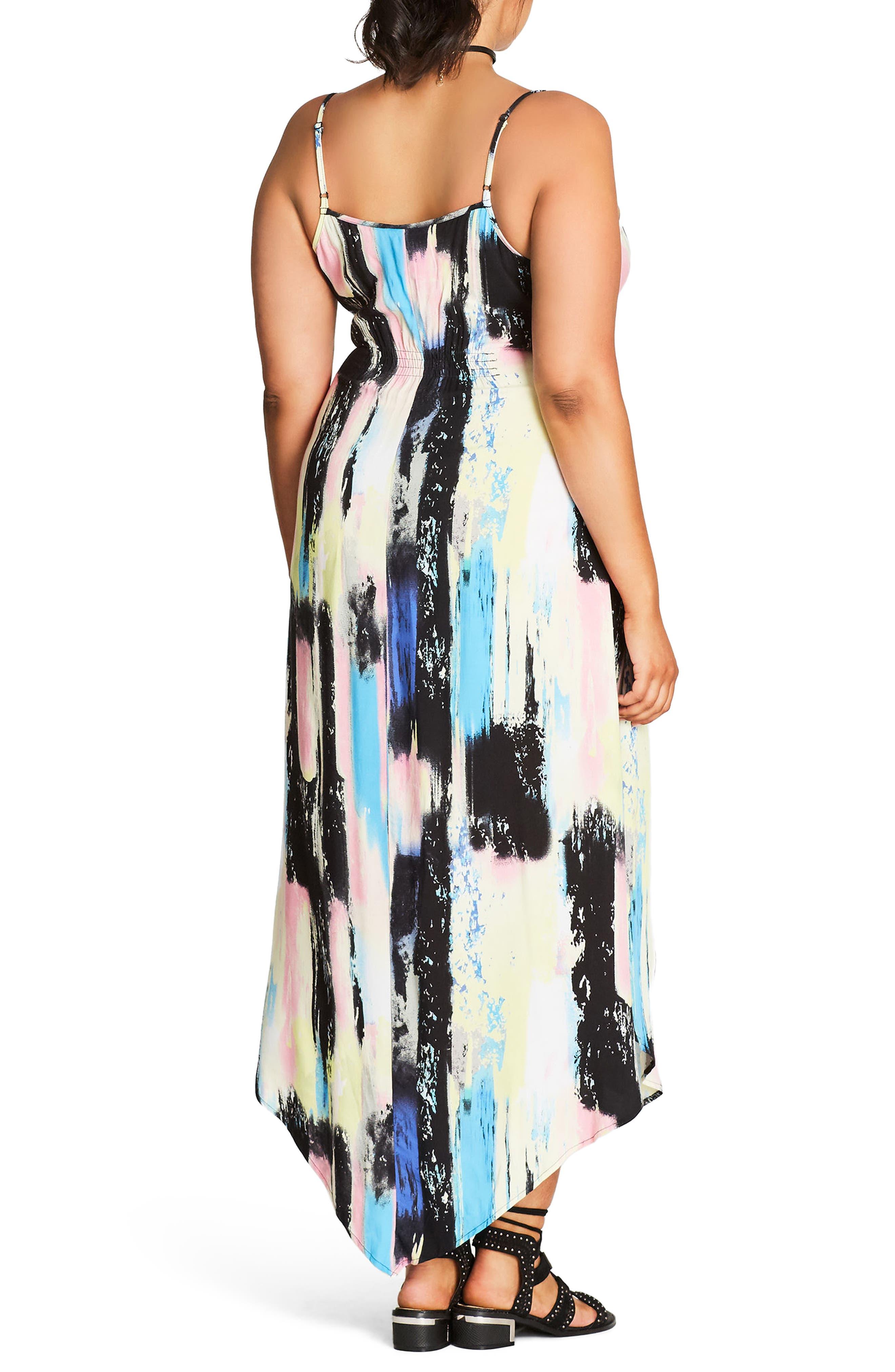 Soft Smudge Print Maxi Dress,                             Alternate thumbnail 2, color,                             900