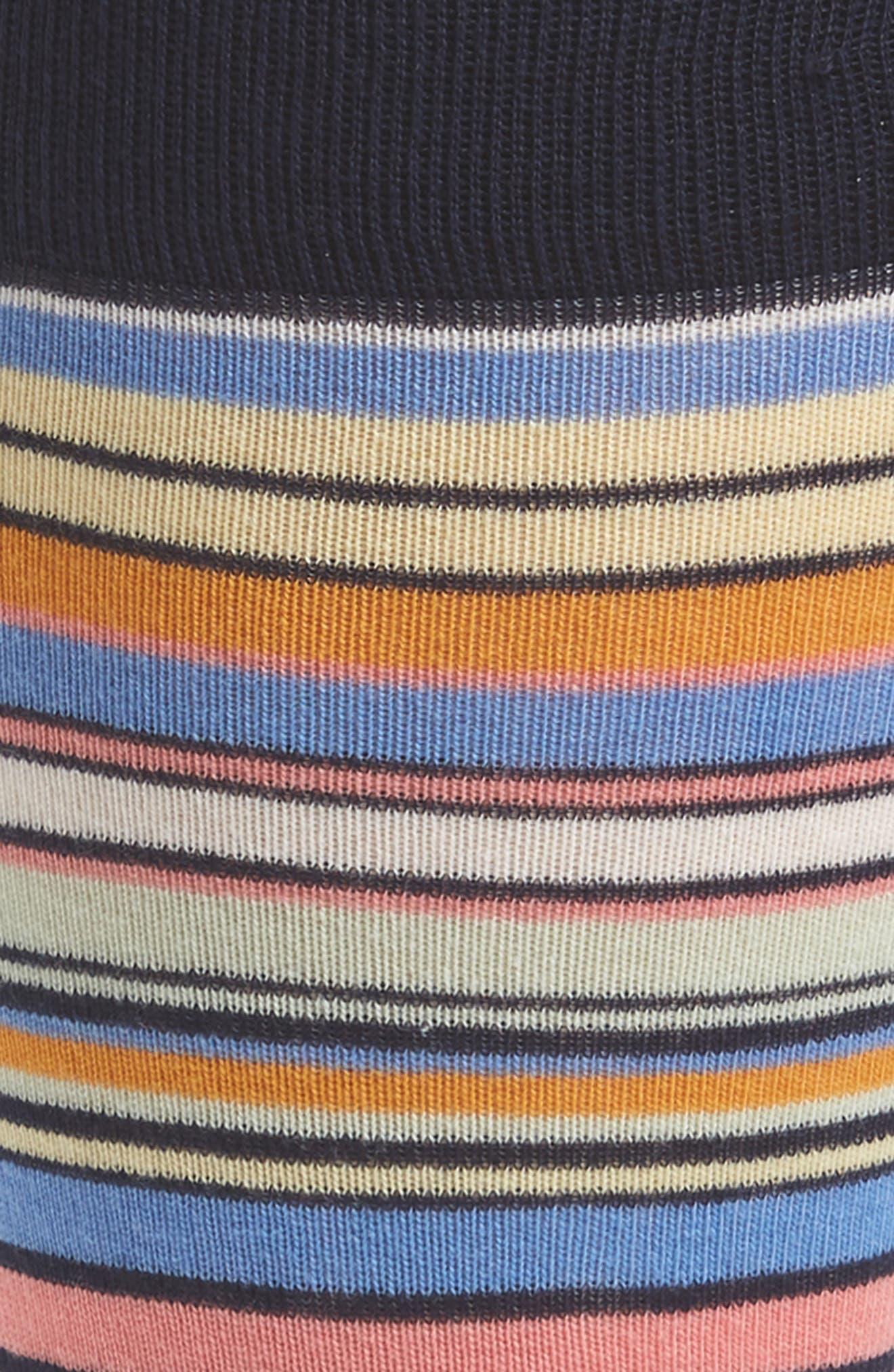 Stripe Socks,                             Alternate thumbnail 2, color,                             NAVY/ PALE YELLOW