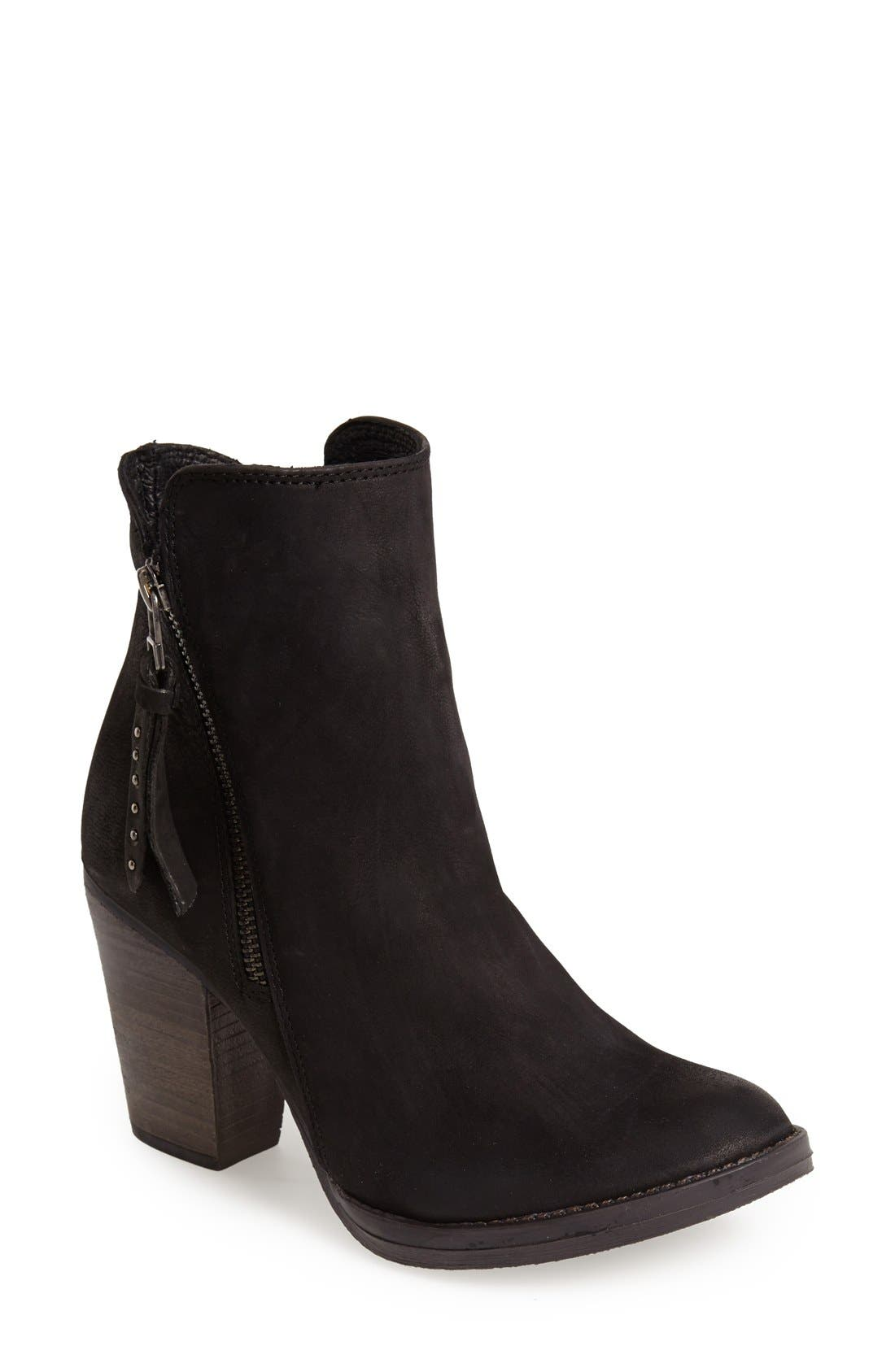 'Ryat' Leather Ankle Bootie,                             Main thumbnail 1, color,                             001