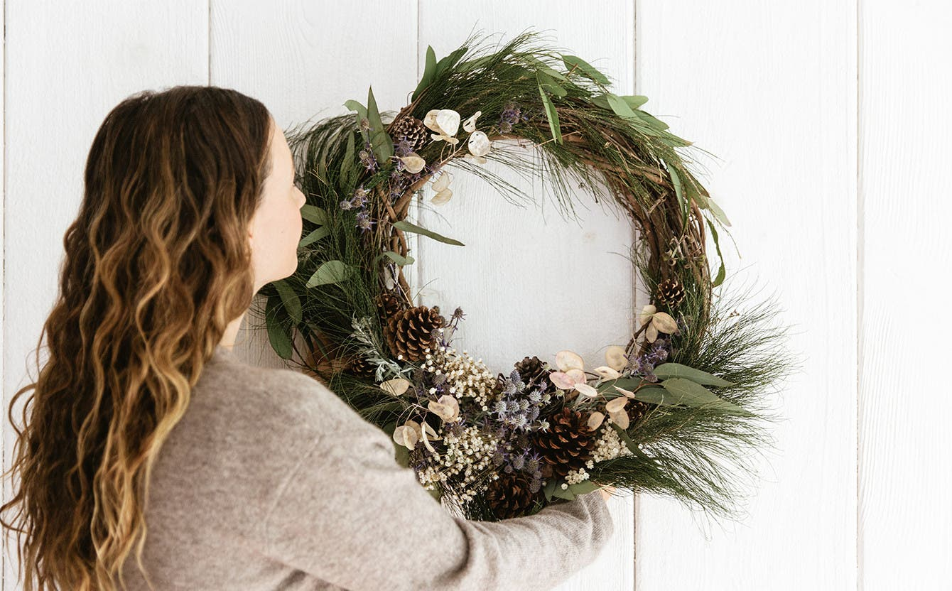 Holiday wreath by Jenni Kayne.
