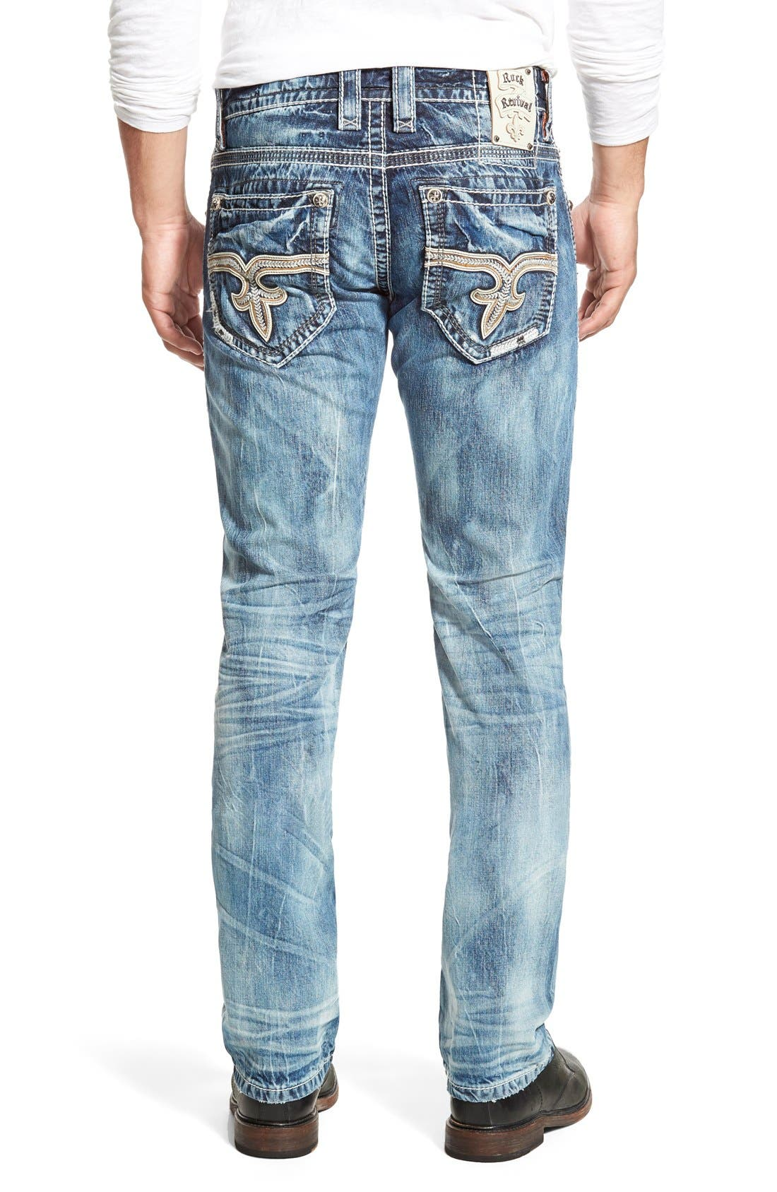 ROCK REVIVAL,                             'Emmet' Straight Leg Jeans,                             Alternate thumbnail 4, color,                             431
