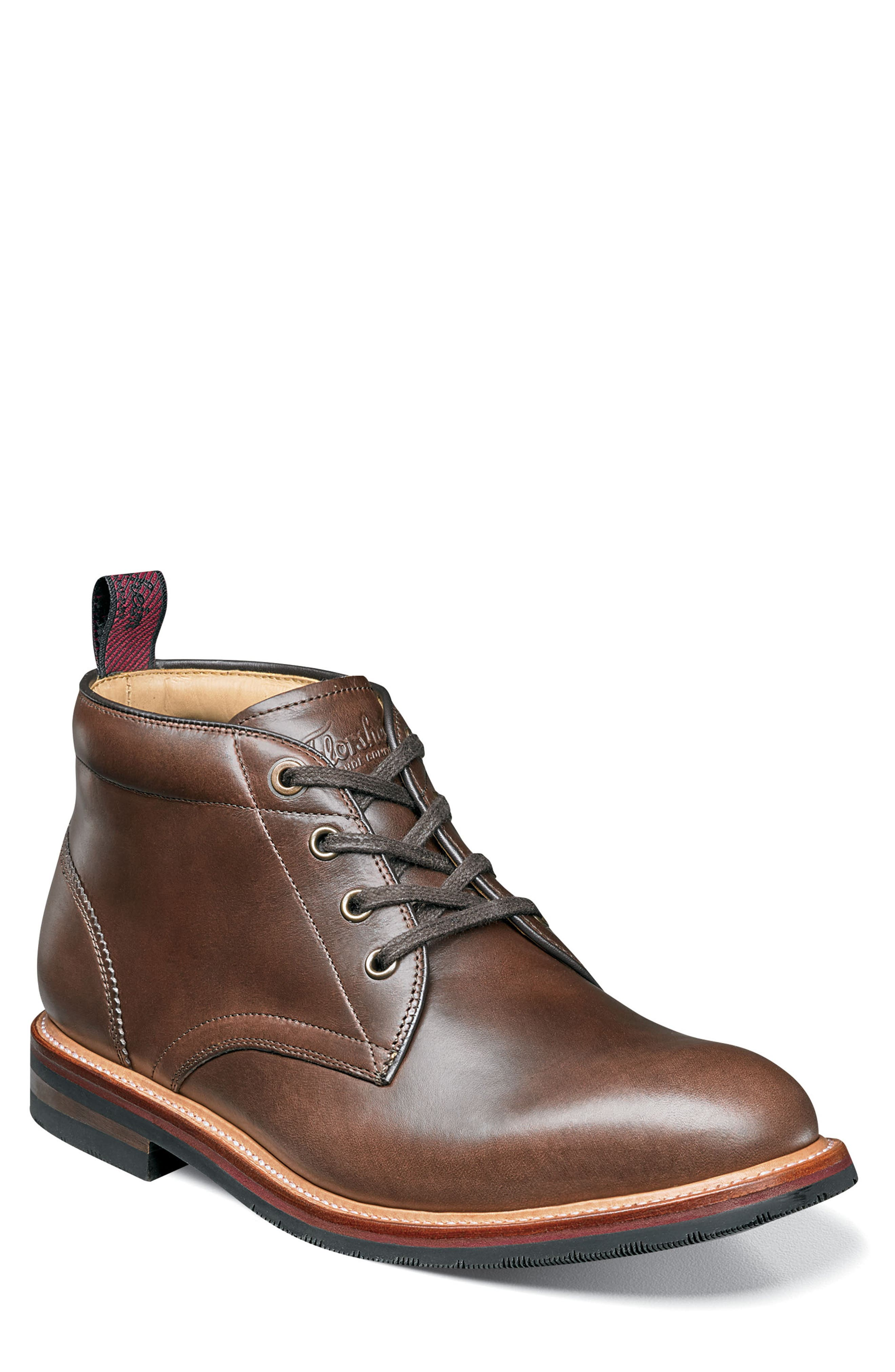 FLORSHEIM Foundry Leather Boot in Brown Leather