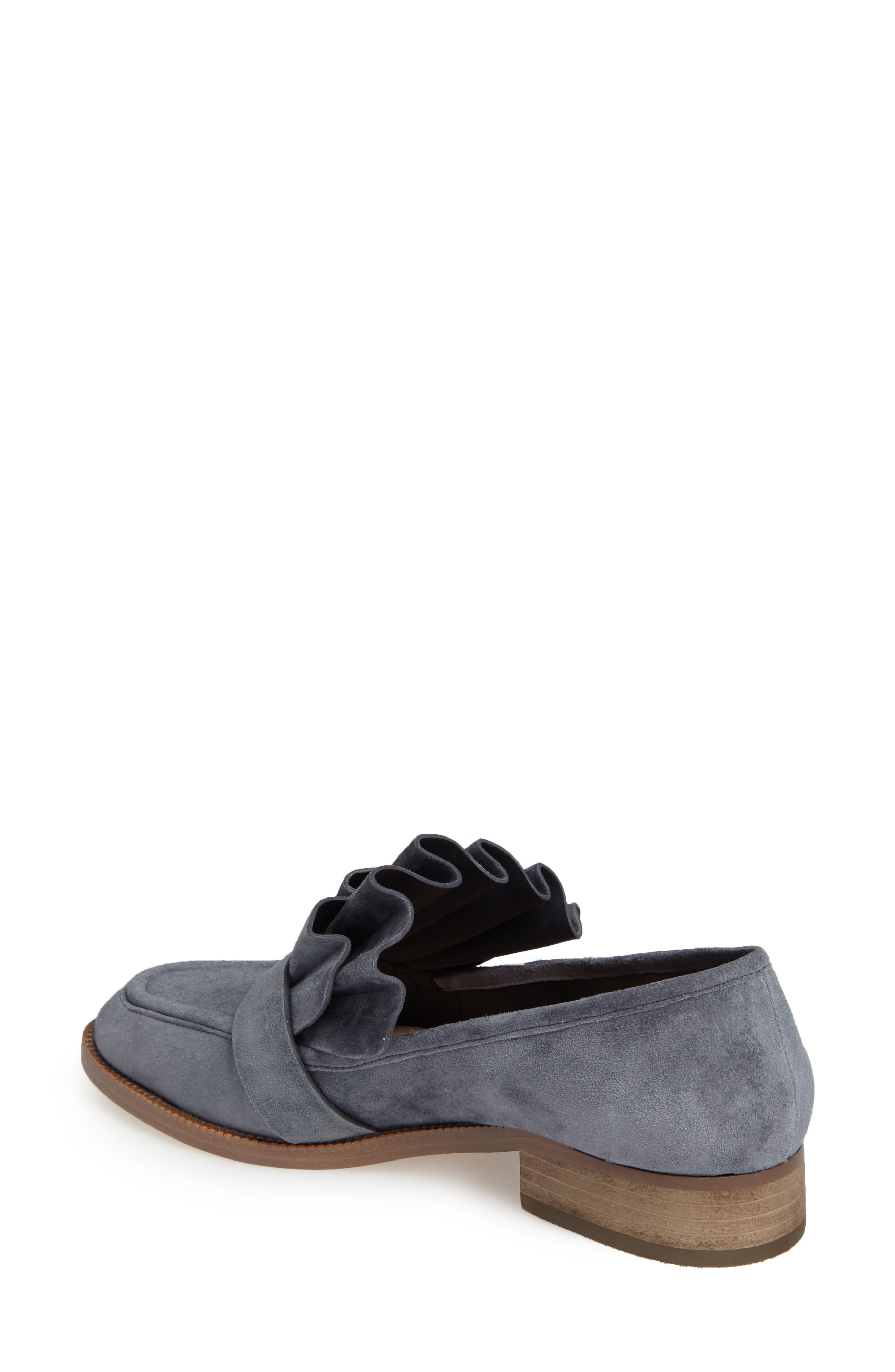 Tenley Ruffled Loafer,                             Alternate thumbnail 8, color,