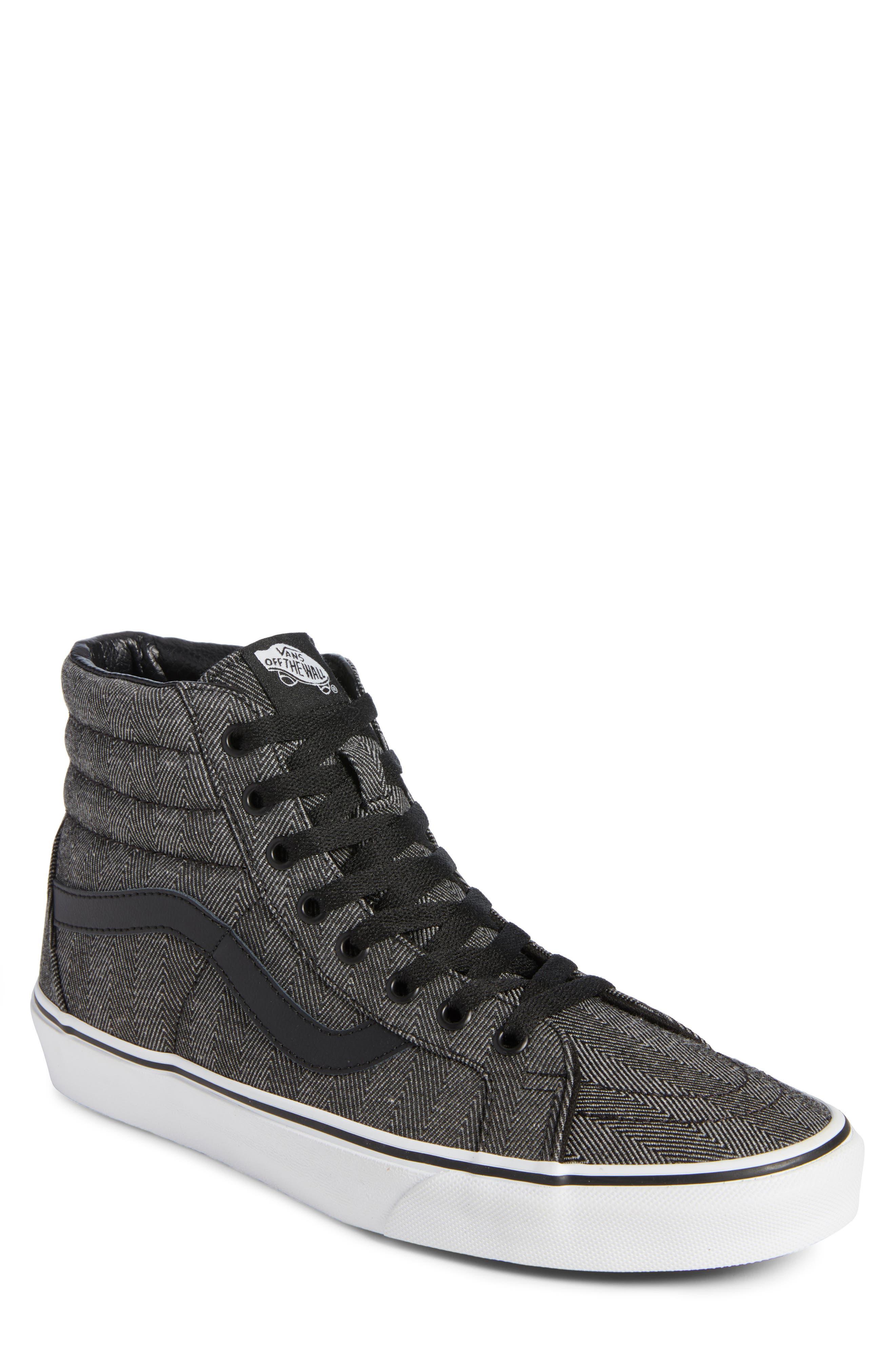 SK8-Hi Reissue High Top Sneaker,                             Main thumbnail 1, color,                             BLACK/ TRUE WHITE