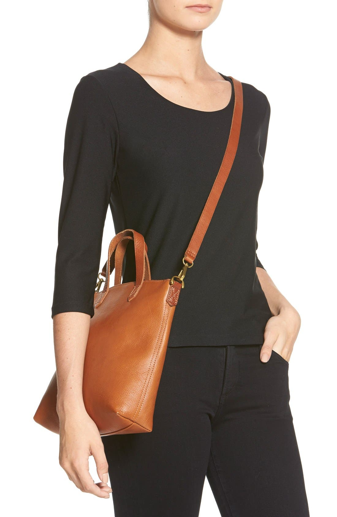 The Transport Leather Crossbody Bag,                             Alternate thumbnail 6, color,