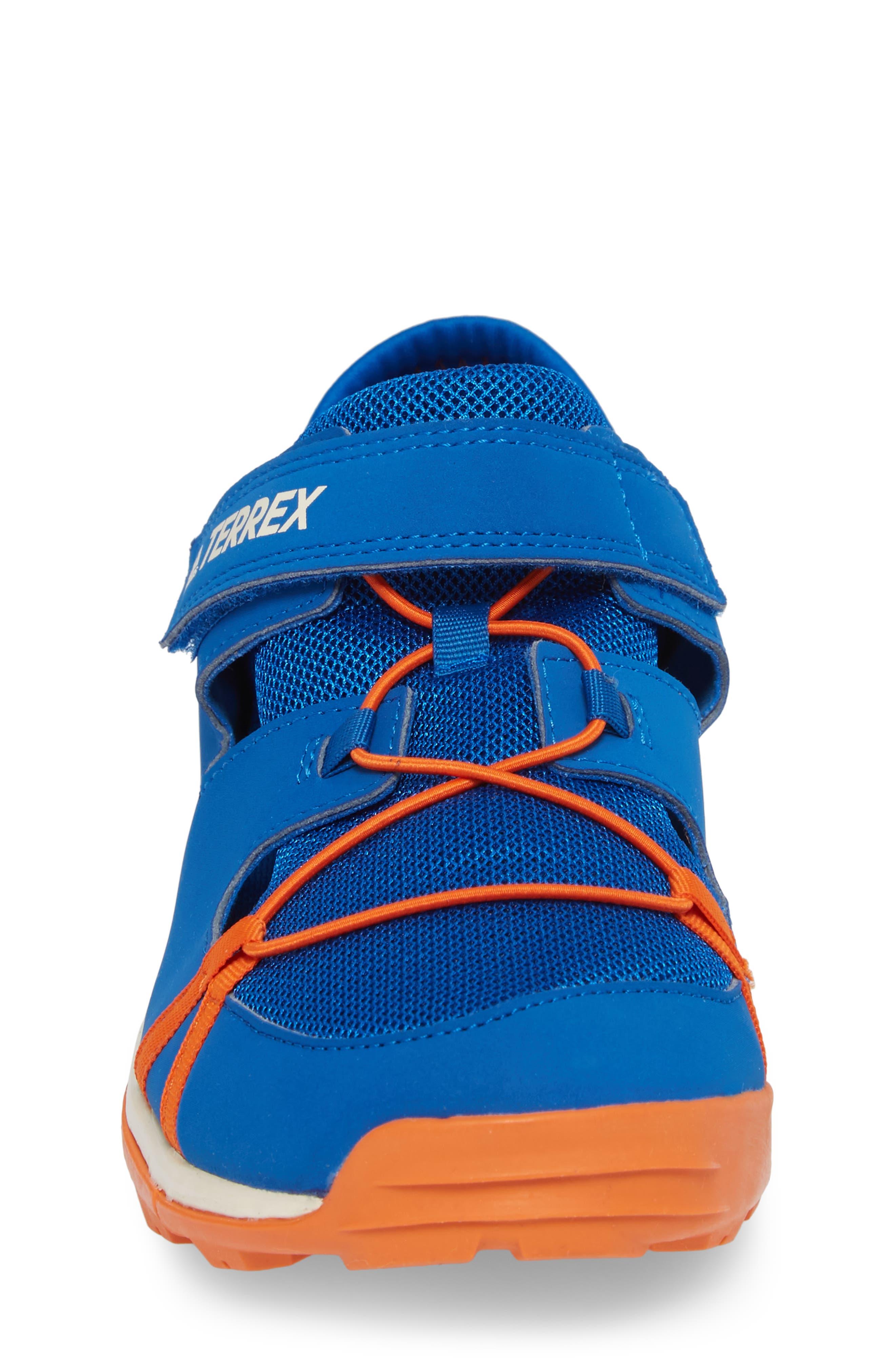 Terrex Tivid Sneaker,                             Alternate thumbnail 4, color,                             BLUE/ ORANGE/ CHALK WHITE