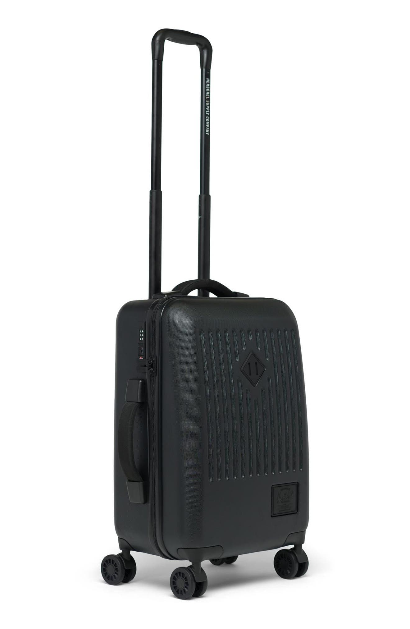Trade 23-Inch Rolling Suitcase,                             Alternate thumbnail 3, color,                             BLACK