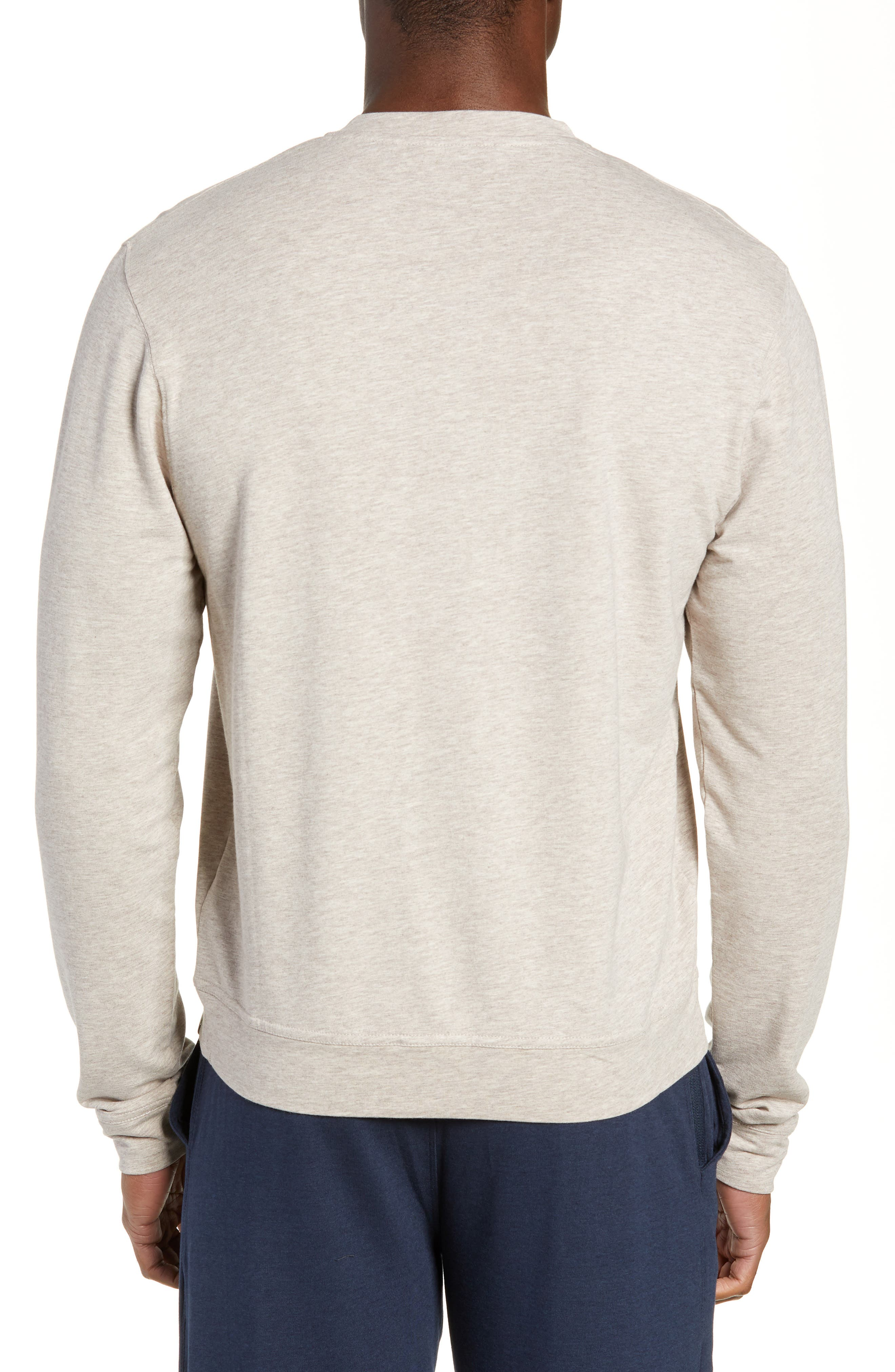 Legacy Heathered Henley,                             Alternate thumbnail 2, color,                             CRATER HEATHER