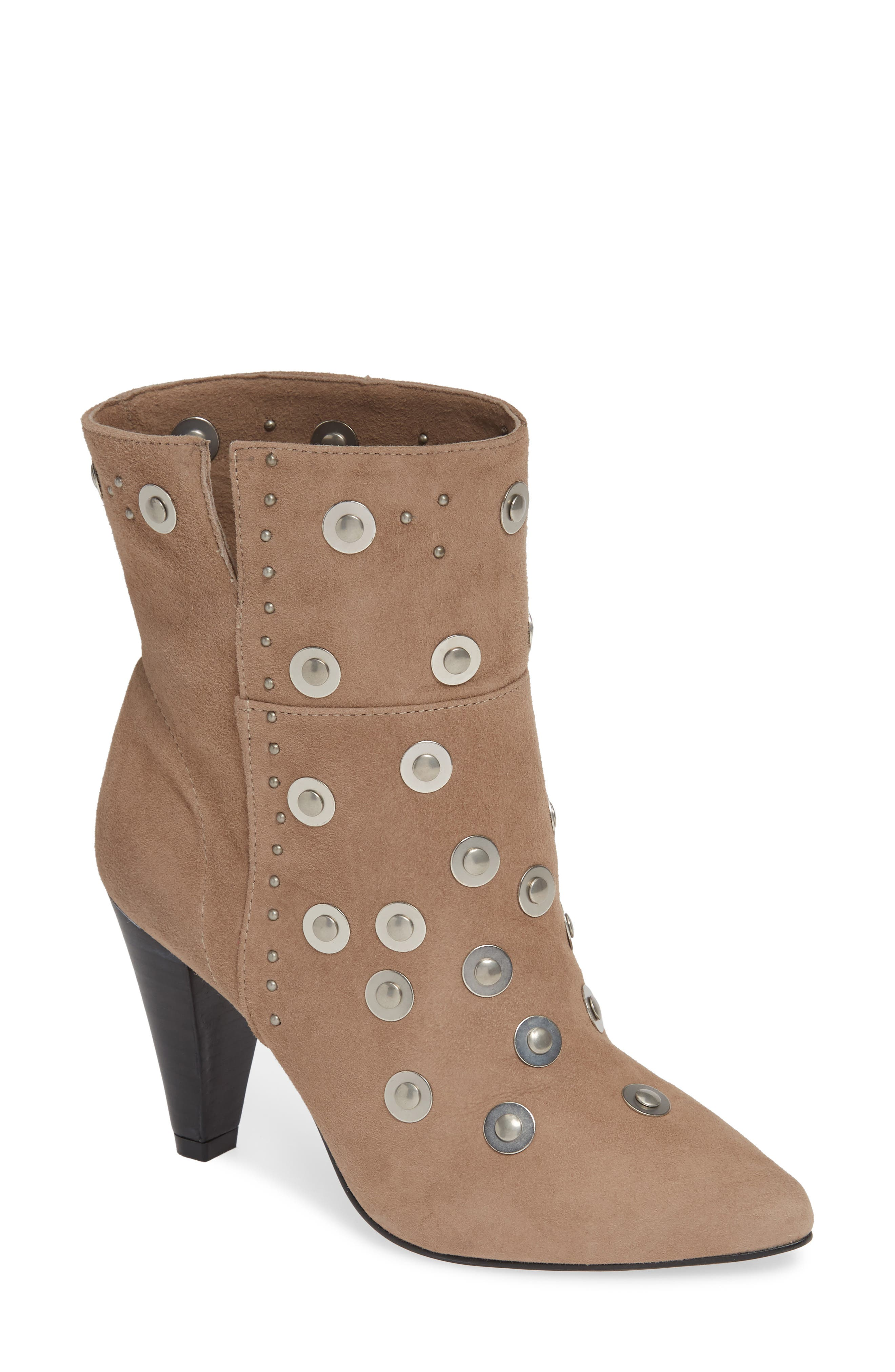 LUST FOR LIFE Casablanca Stud Bootie in Taupe Nubuck Leather