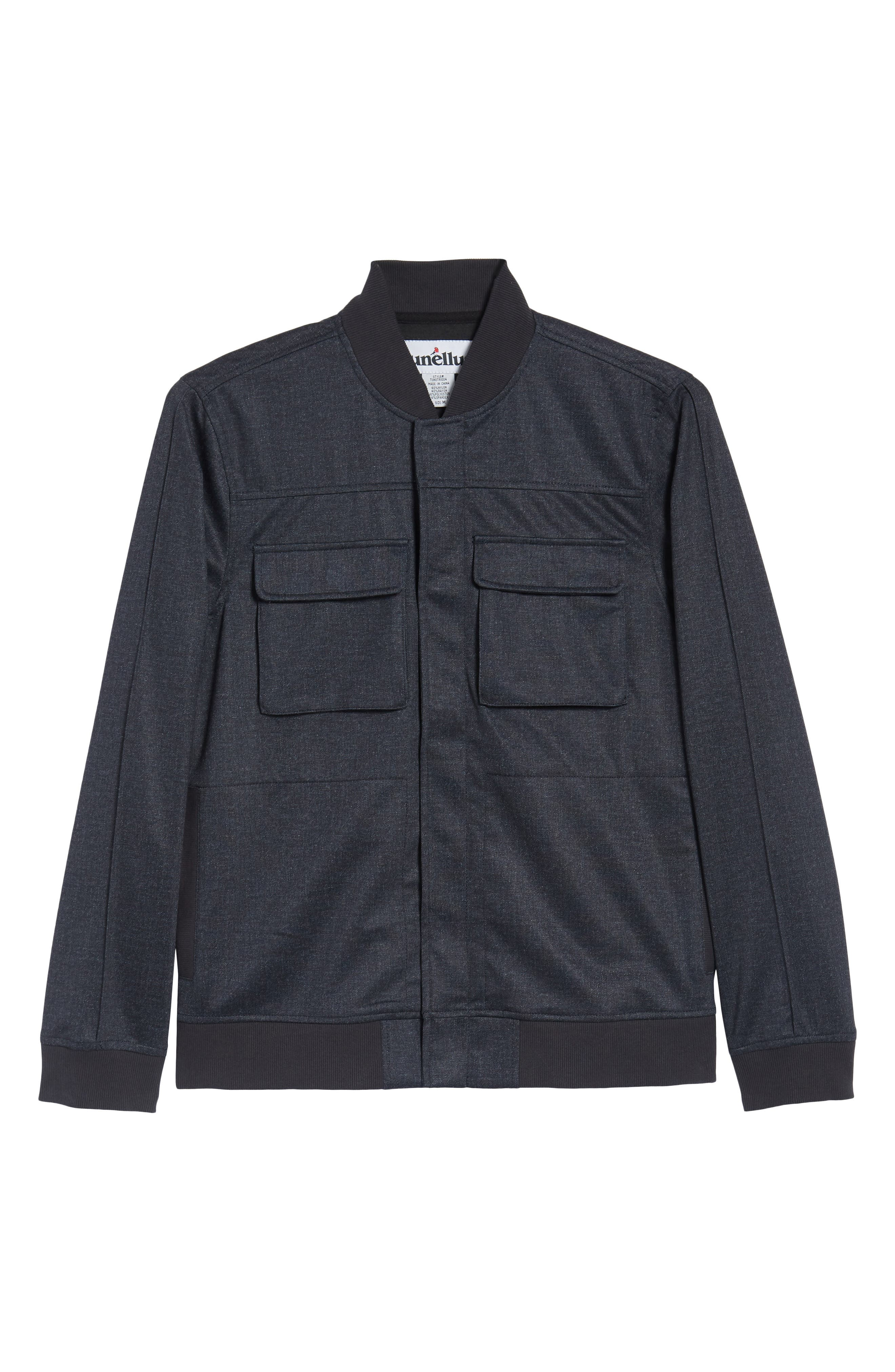 Lightweight Denim Bomber Jacket,                             Alternate thumbnail 5, color,                             410