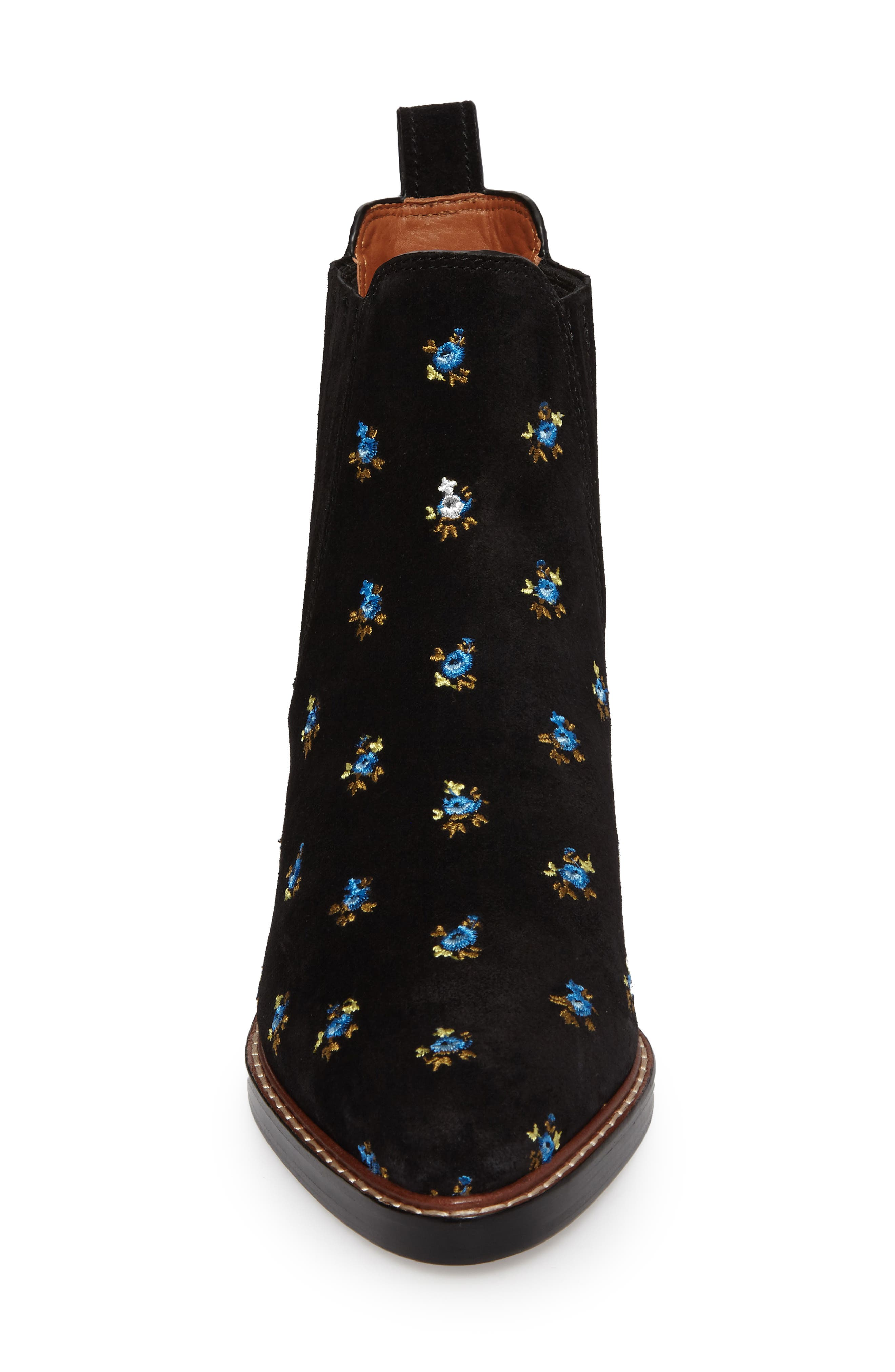 Bowery Embroidered Chelsea Bootie,                             Alternate thumbnail 8, color,