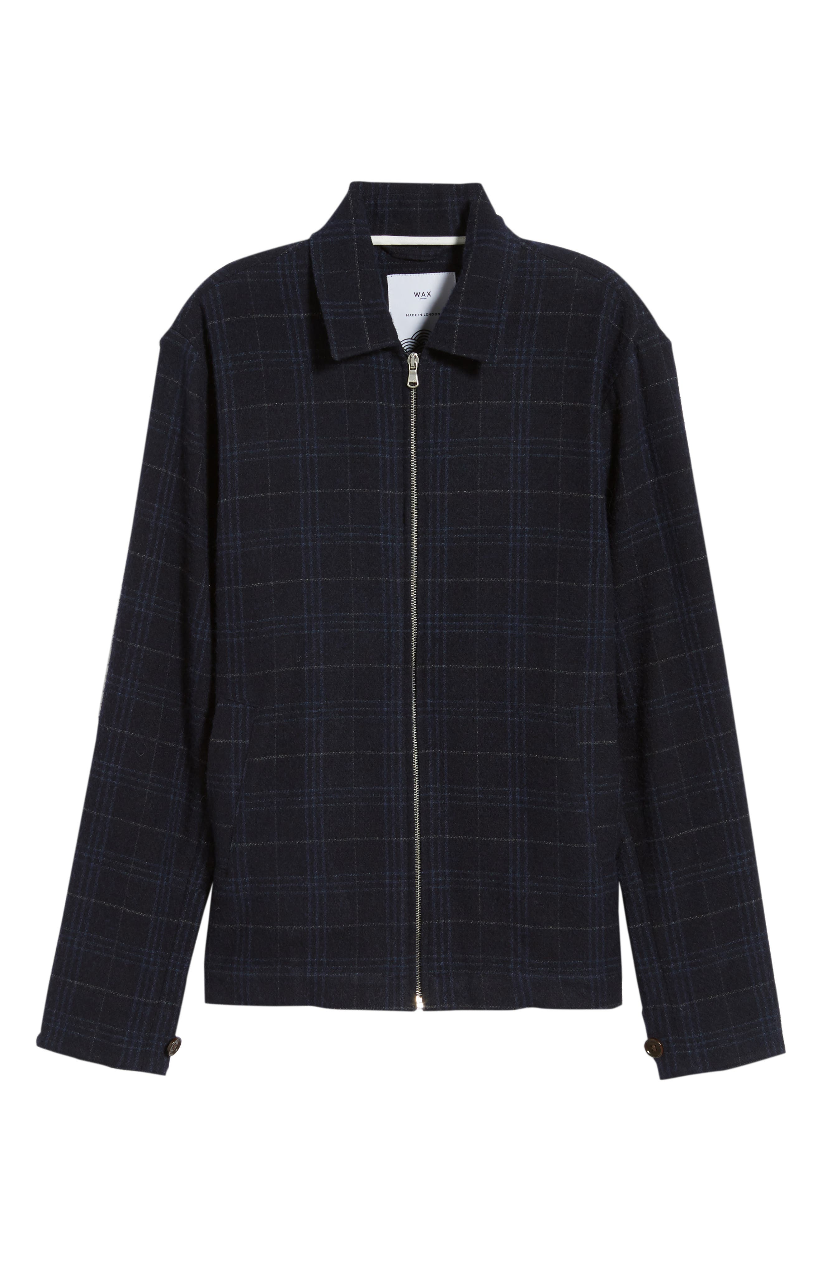 WAX LONDON,                             Witham Coach's Jacket,                             Alternate thumbnail 6, color,                             NAVY CHECK