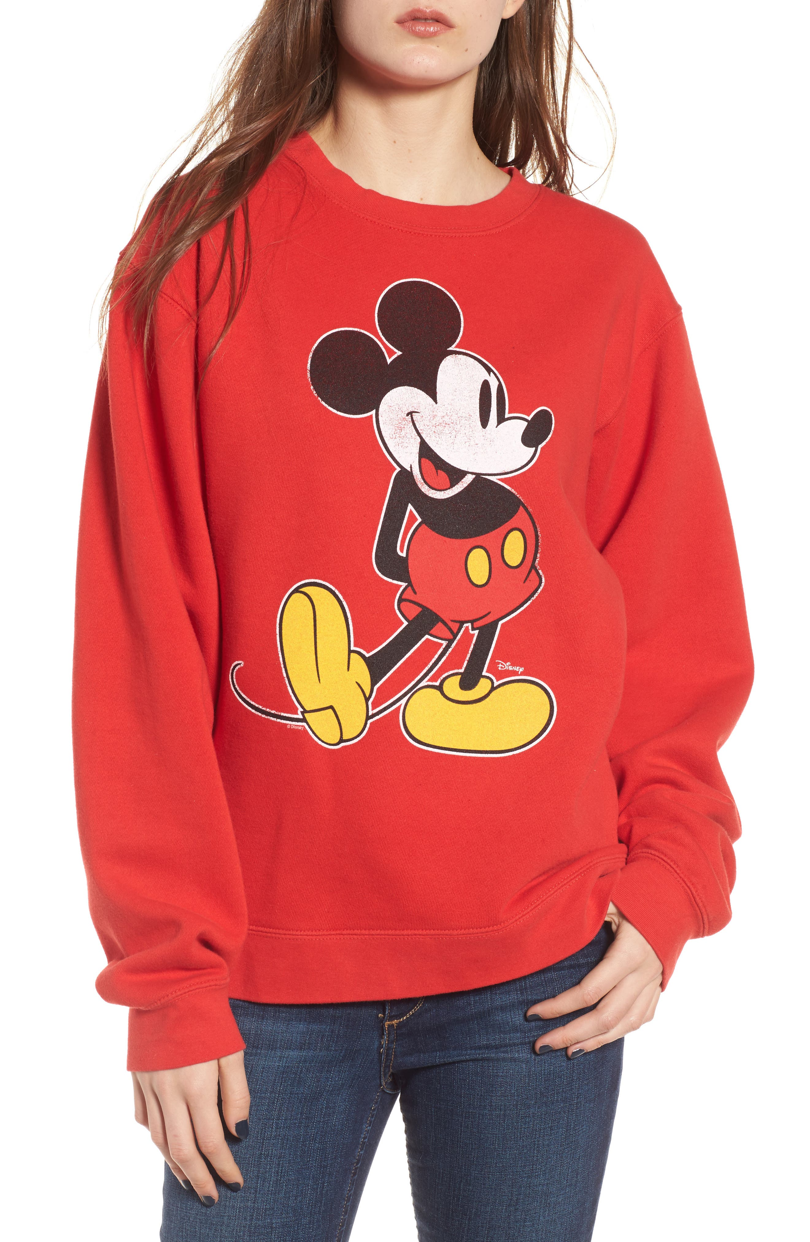 JUNK FOOD Junkfood Disney<sup>®</sup> Classic Mickey Sweatshirt, Main, color, 600
