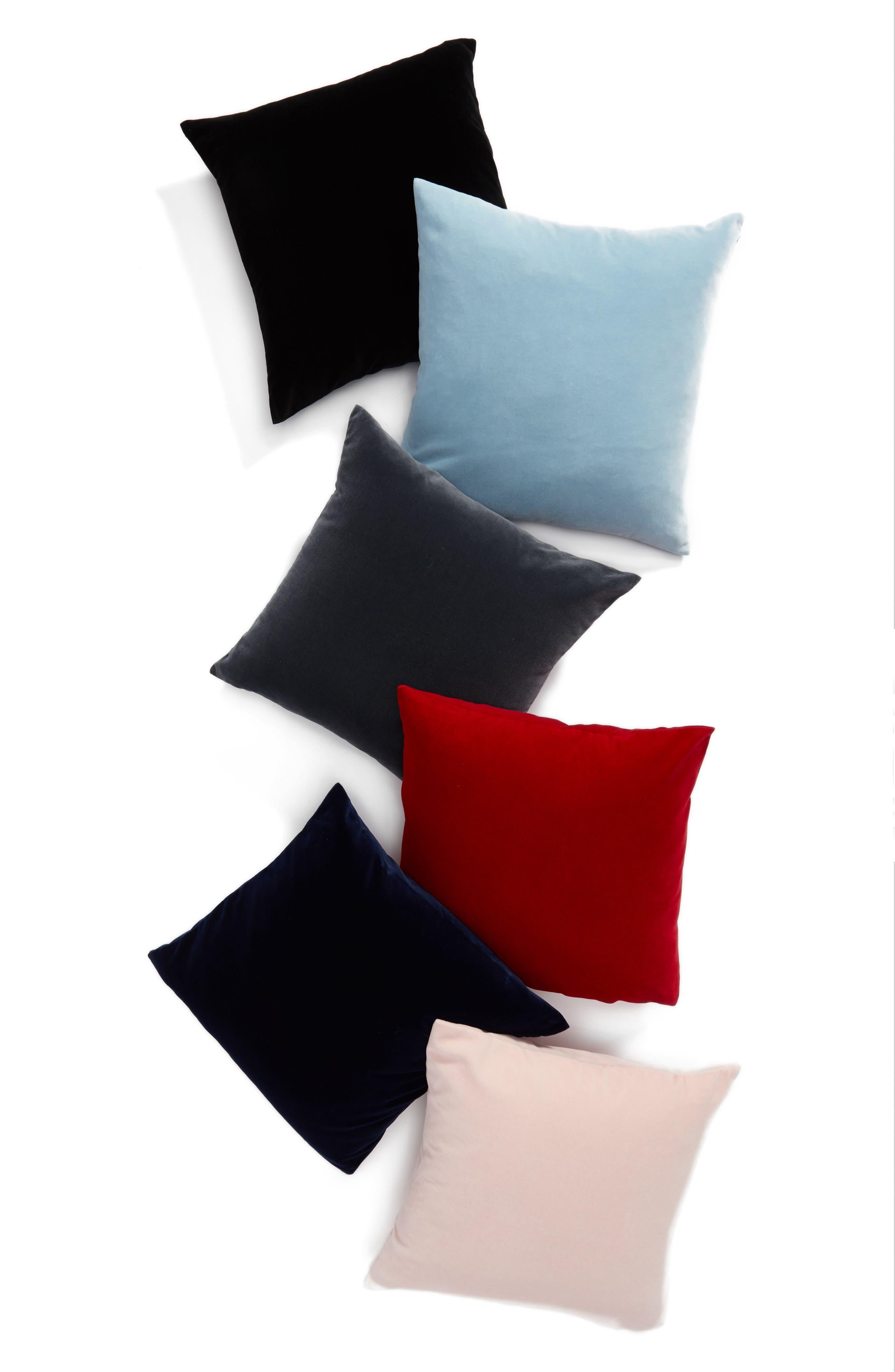 Lucerne Velvet Pillow,                             Alternate thumbnail 3, color,                             001