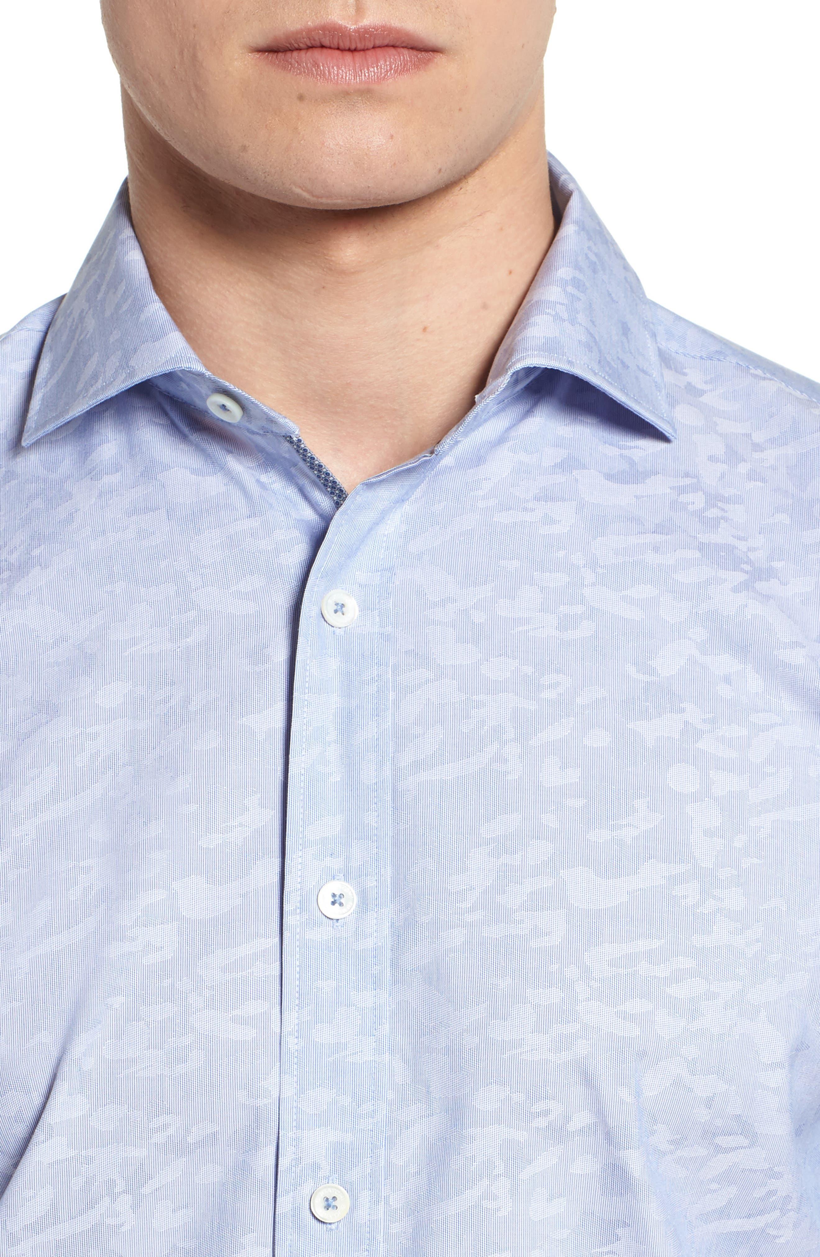 Woven Sport Shirt,                             Alternate thumbnail 4, color,                             CLASSIC BLUE