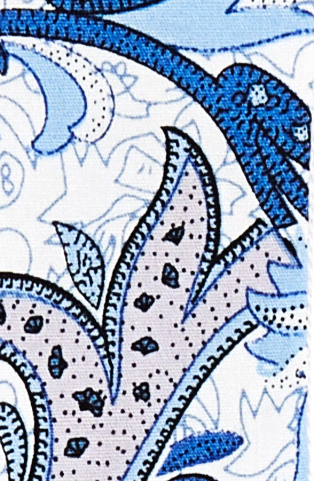 Paisley Cotton Suspenders,                             Alternate thumbnail 2, color,                             BLUE BONNET