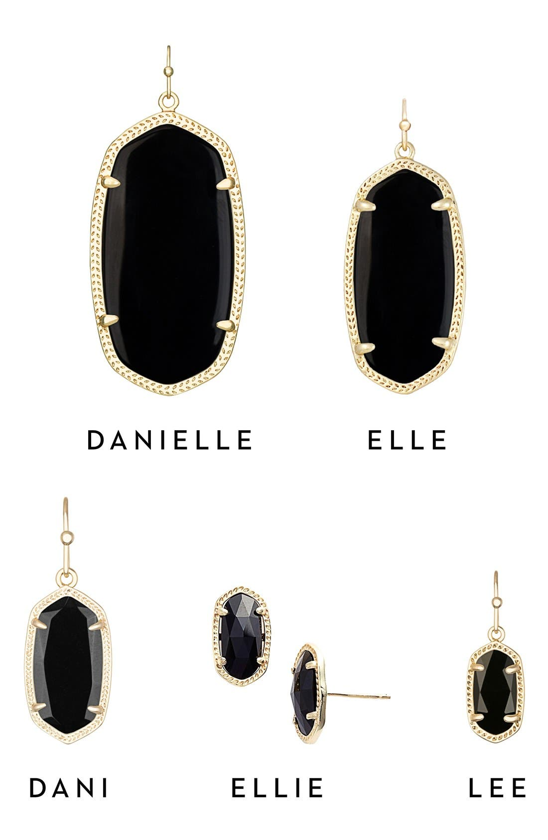 Dani Stone Drop Earrings,                             Alternate thumbnail 3, color,                             001