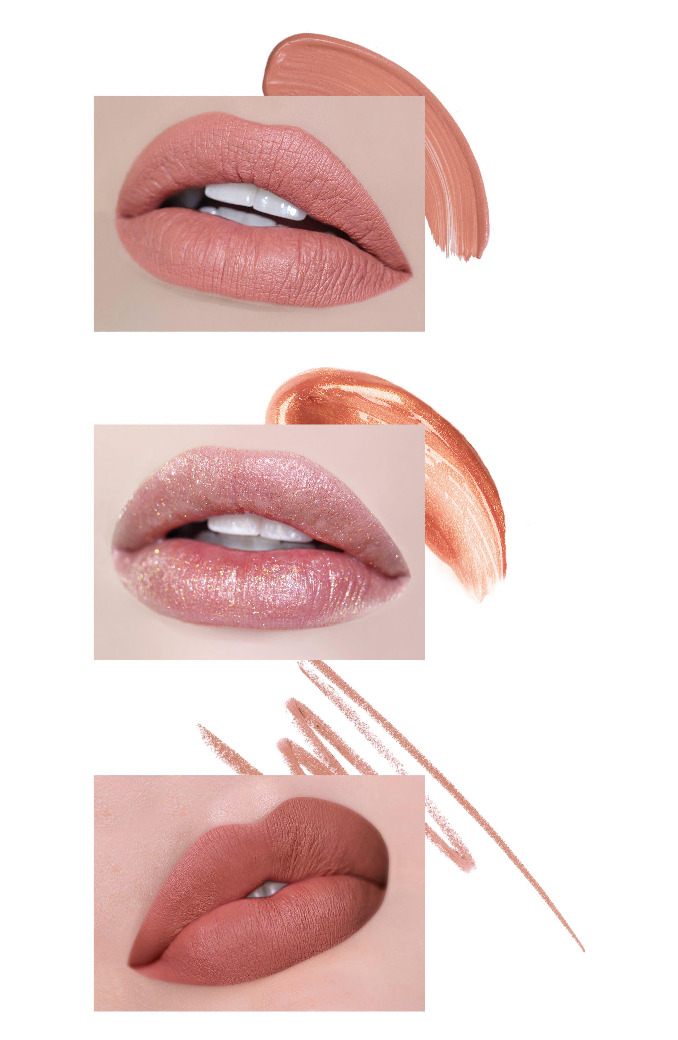 Jet Set Lip Kit,                             Alternate thumbnail 6, color,                             LE NUDE