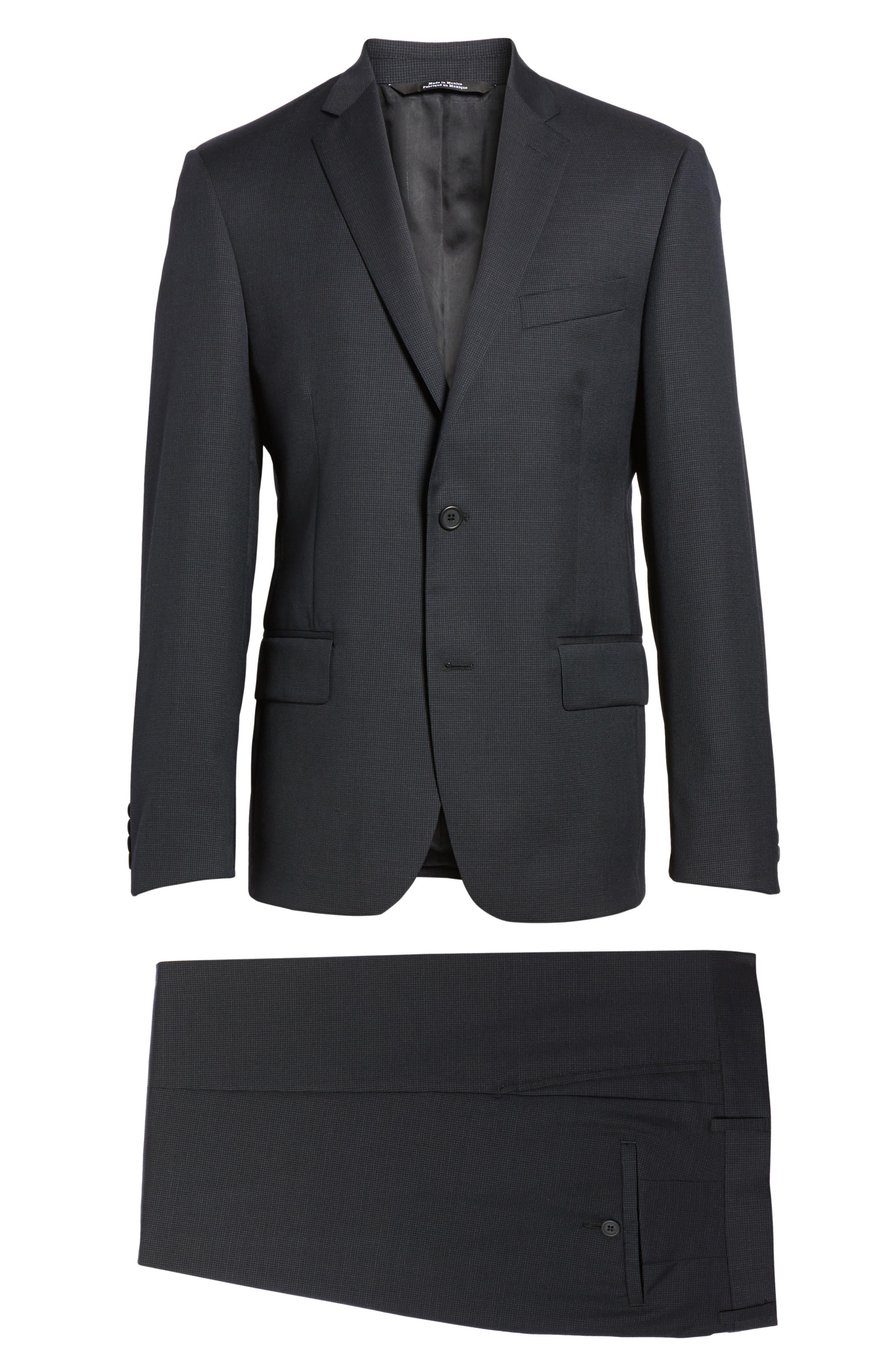 Classic Fit Check Wool Suit,                             Alternate thumbnail 31, color,