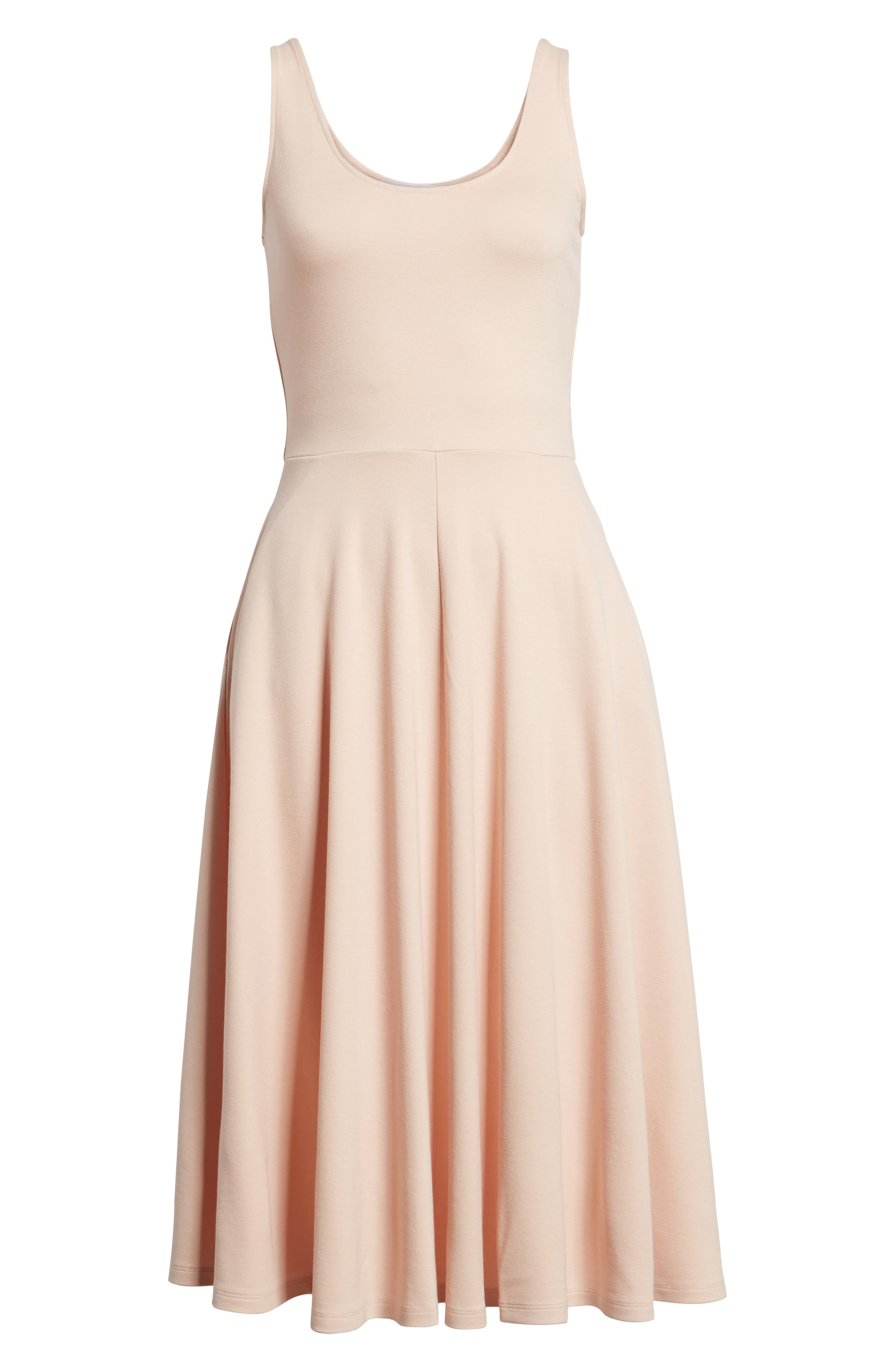 Stretch Knit Midi Dress,                             Alternate thumbnail 66, color,