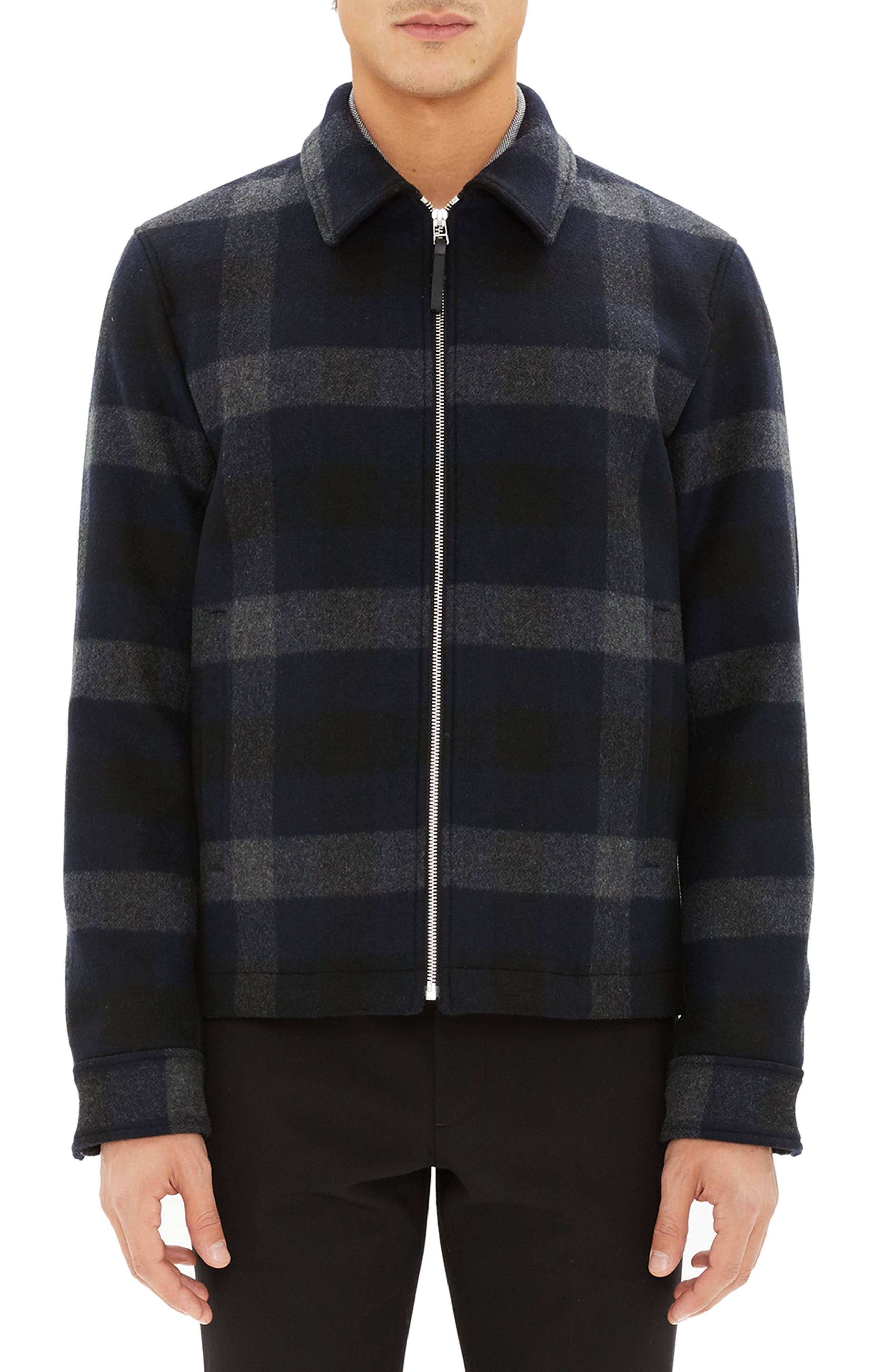 Wyatt Regular Fit Plaid Wool Shirt Jacket,                             Main thumbnail 1, color,                             017