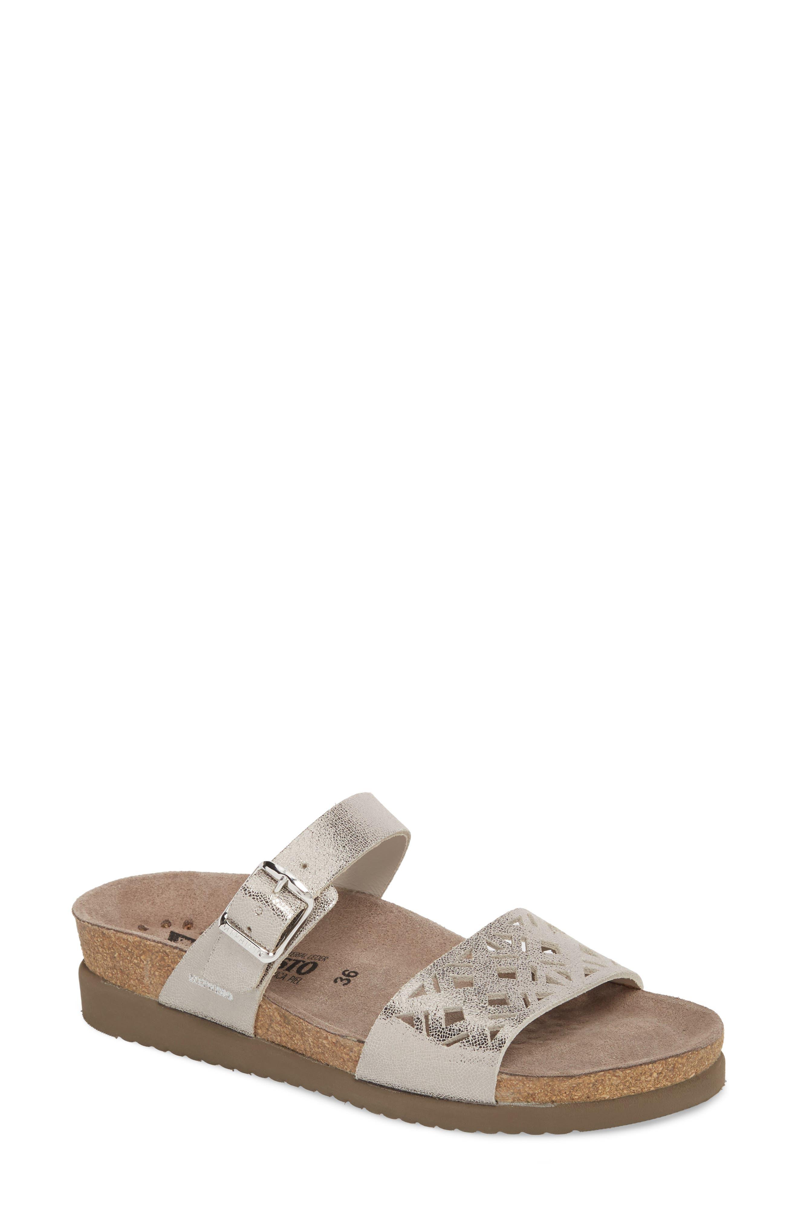 Mephisto Hirena Slide Sandal, Metallic