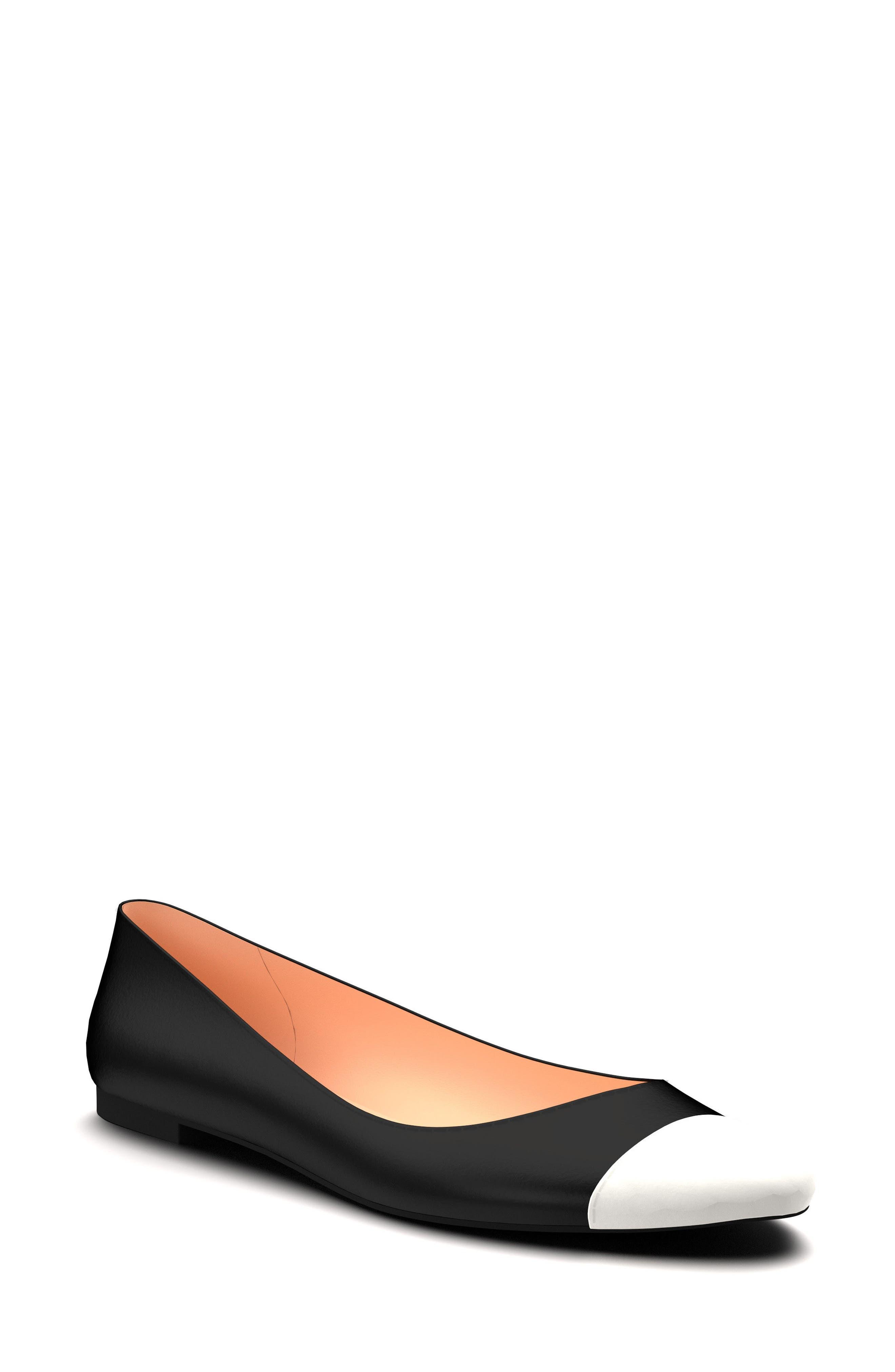 Cap Toe Ballet Flat,                         Main,                         color,