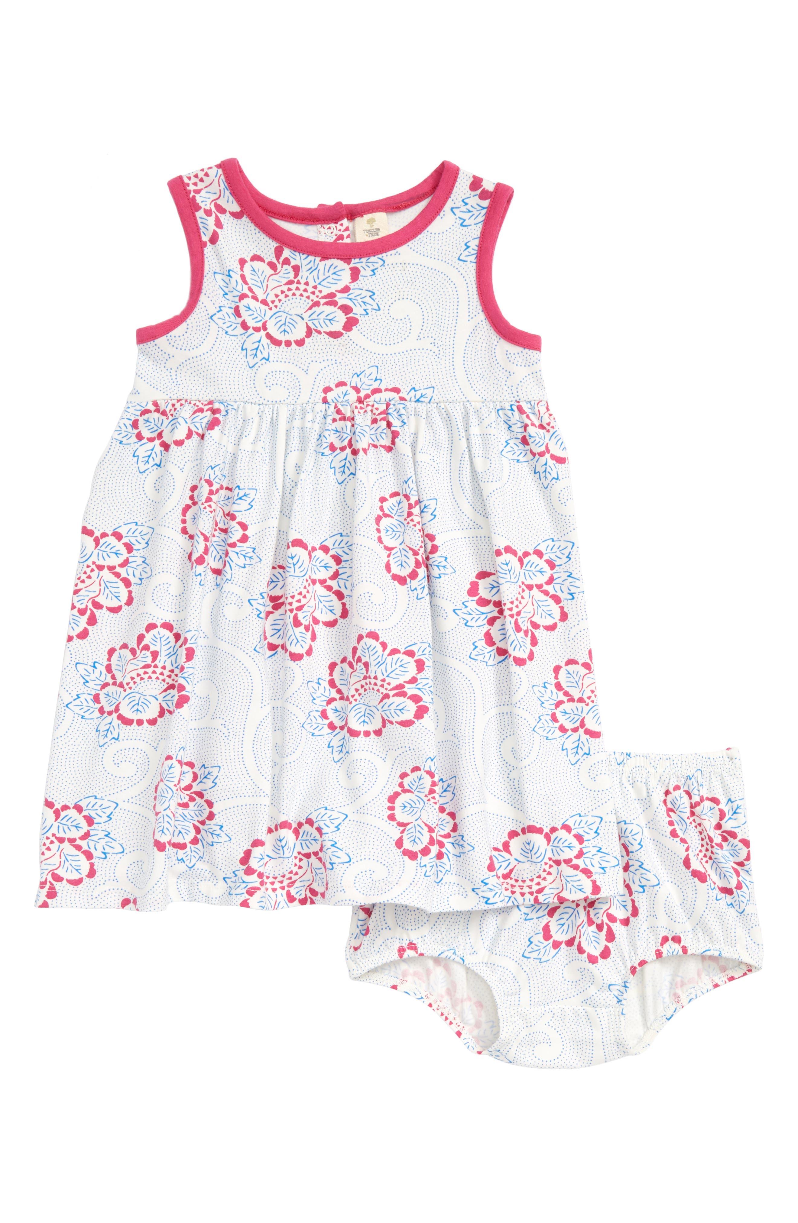 Knit Dress,                         Main,                         color, IVORY EGRET PIAZZA FLORAL