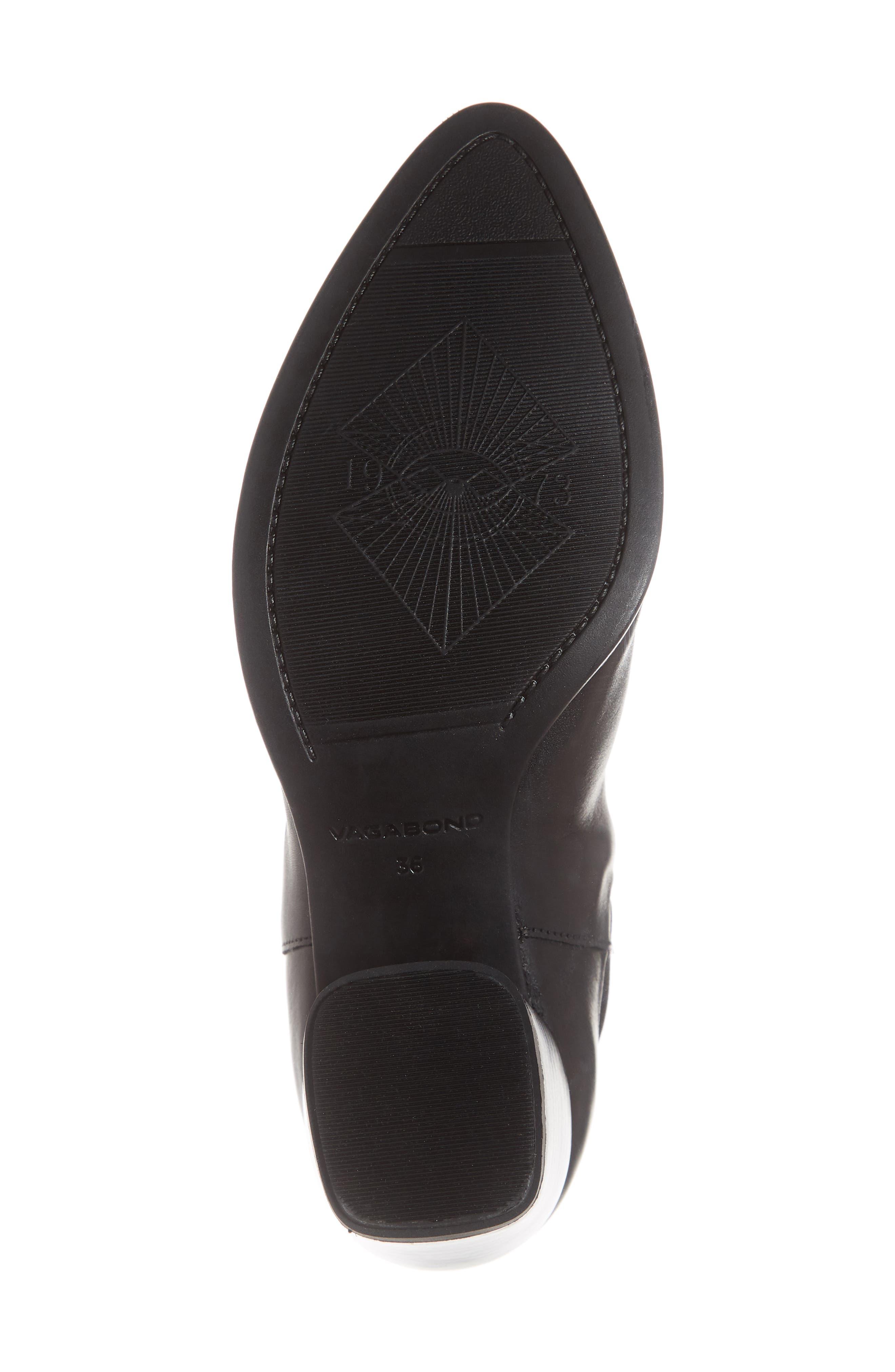 VAGABOND,                             Shoemakers Lara Bootie,                             Alternate thumbnail 6, color,                             BLACK LEATHER