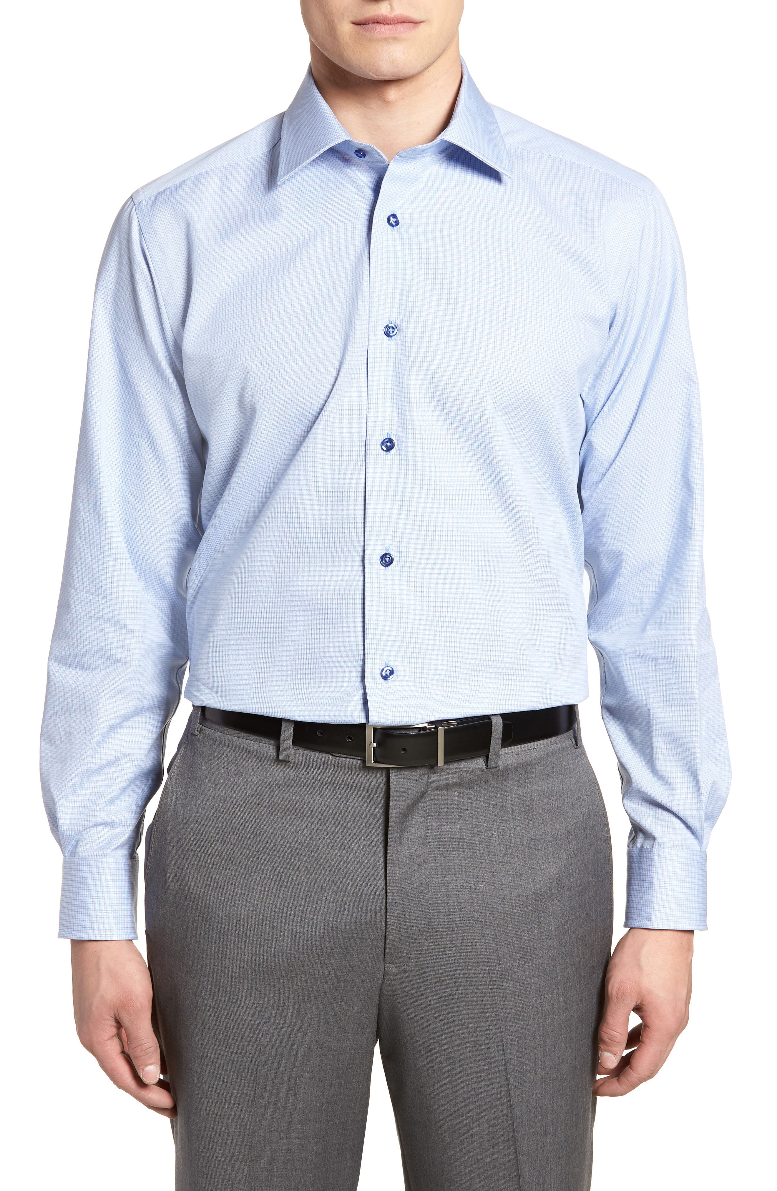 Regular Fit Solid Dress Shirt,                             Main thumbnail 1, color,                             423