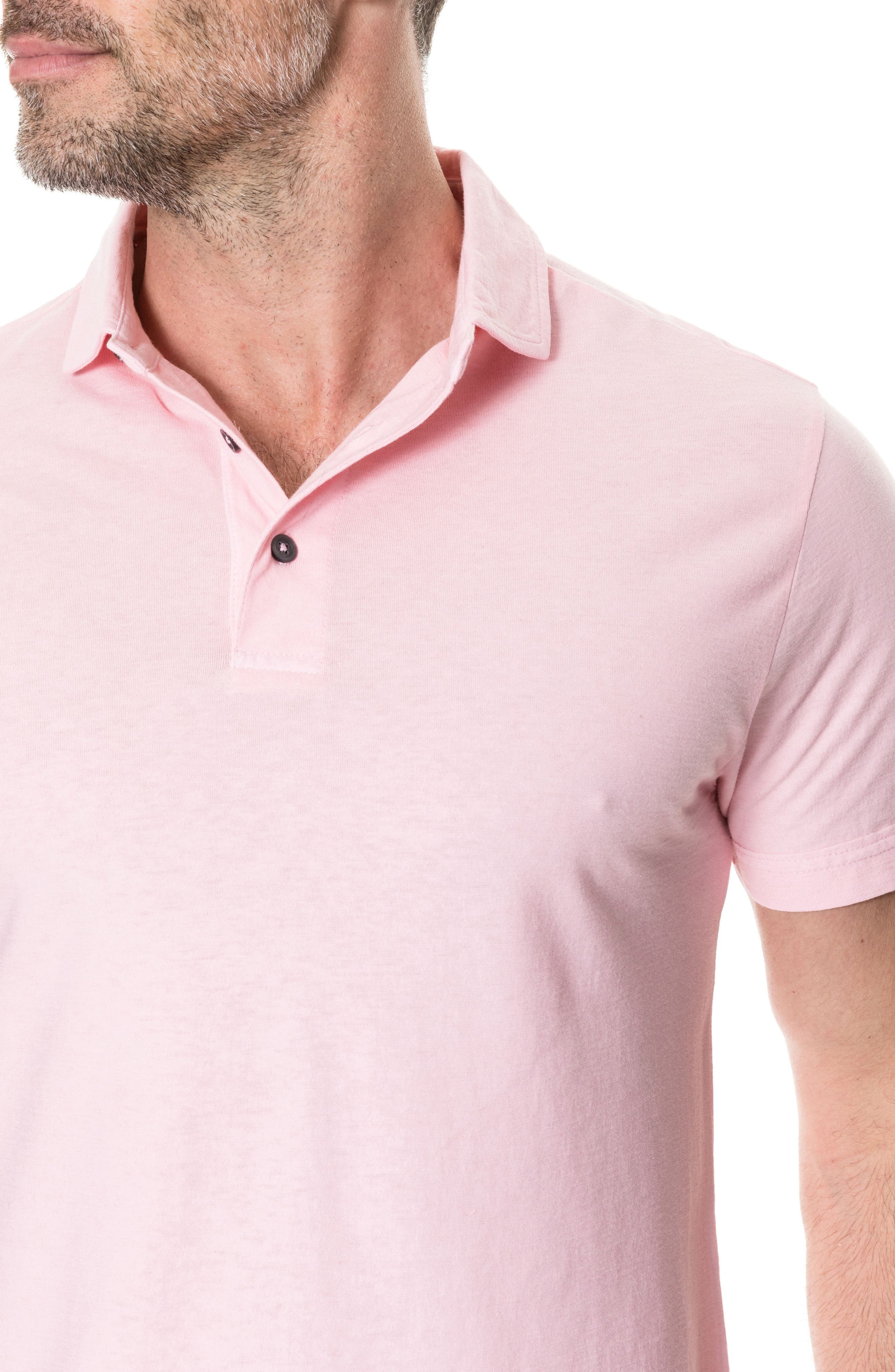 Wilsons Bay Sports Fit Polo,                             Alternate thumbnail 3, color,                             ROSE