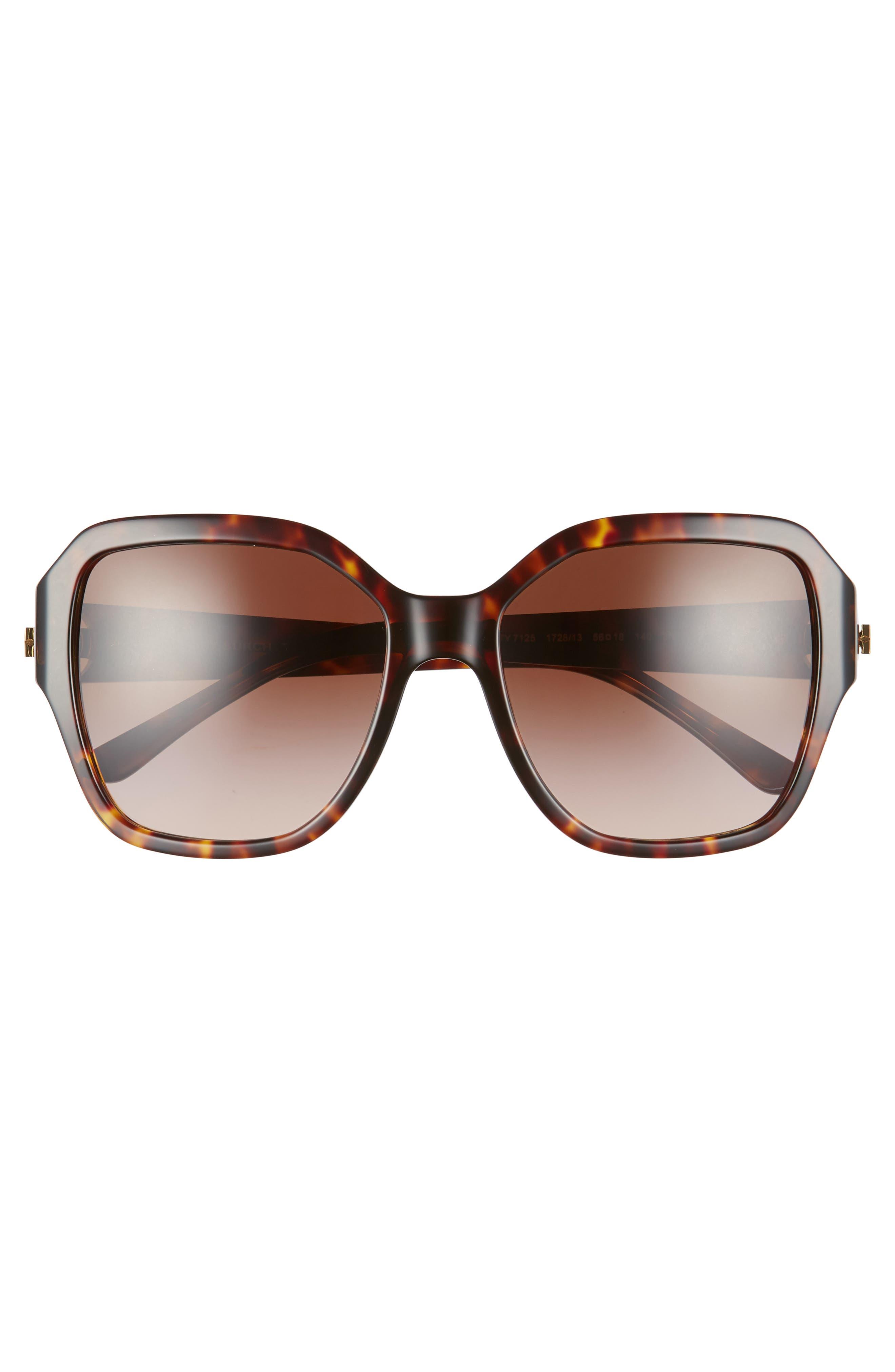Reva 56mm Square Sunglasses,                             Alternate thumbnail 3, color,                             212