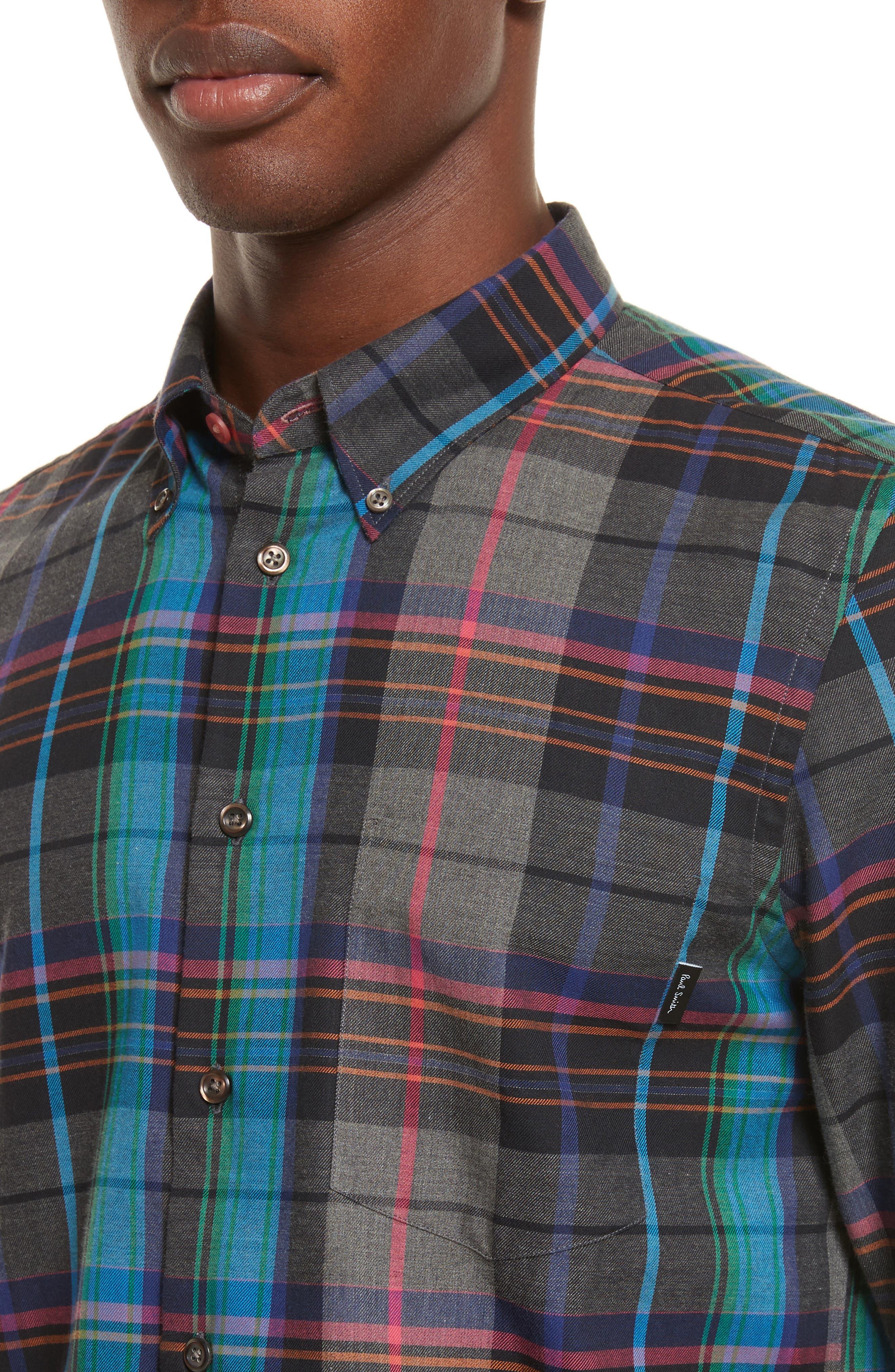 Plaid Woven Shirt,                             Alternate thumbnail 4, color,                             037