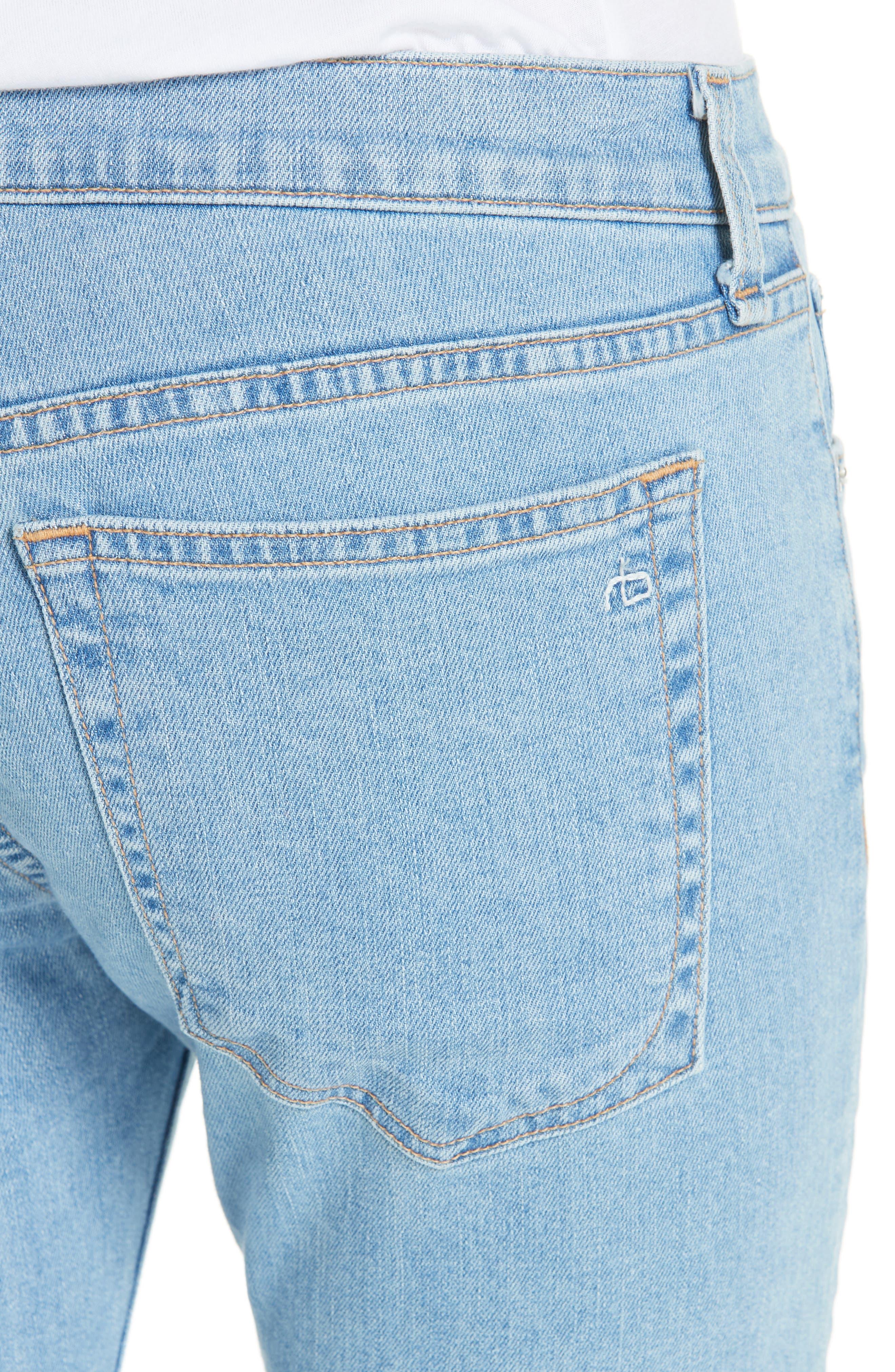 The Dre Ankle Slim Boyfriend Jeans,                             Alternate thumbnail 4, color,                             CLEAN JUDI