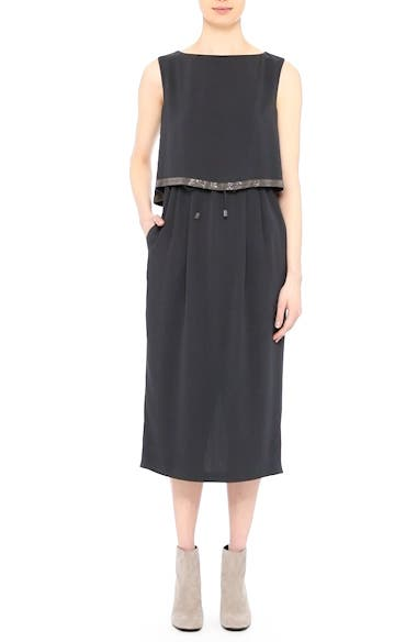 Embellished Silk Drawstring Dress, video thumbnail
