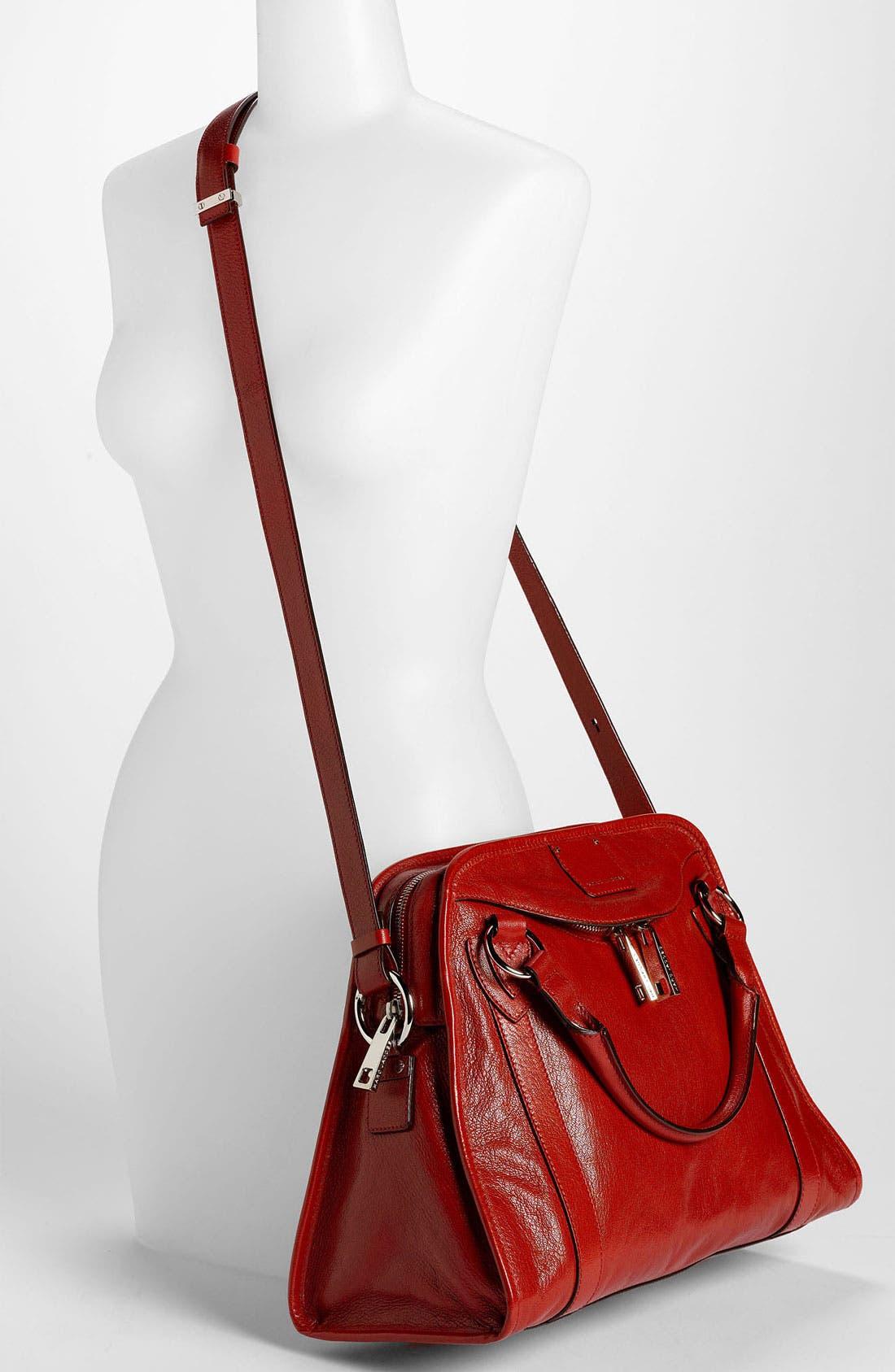 'Classic Wellington' Leather Satchel,                             Alternate thumbnail 22, color,