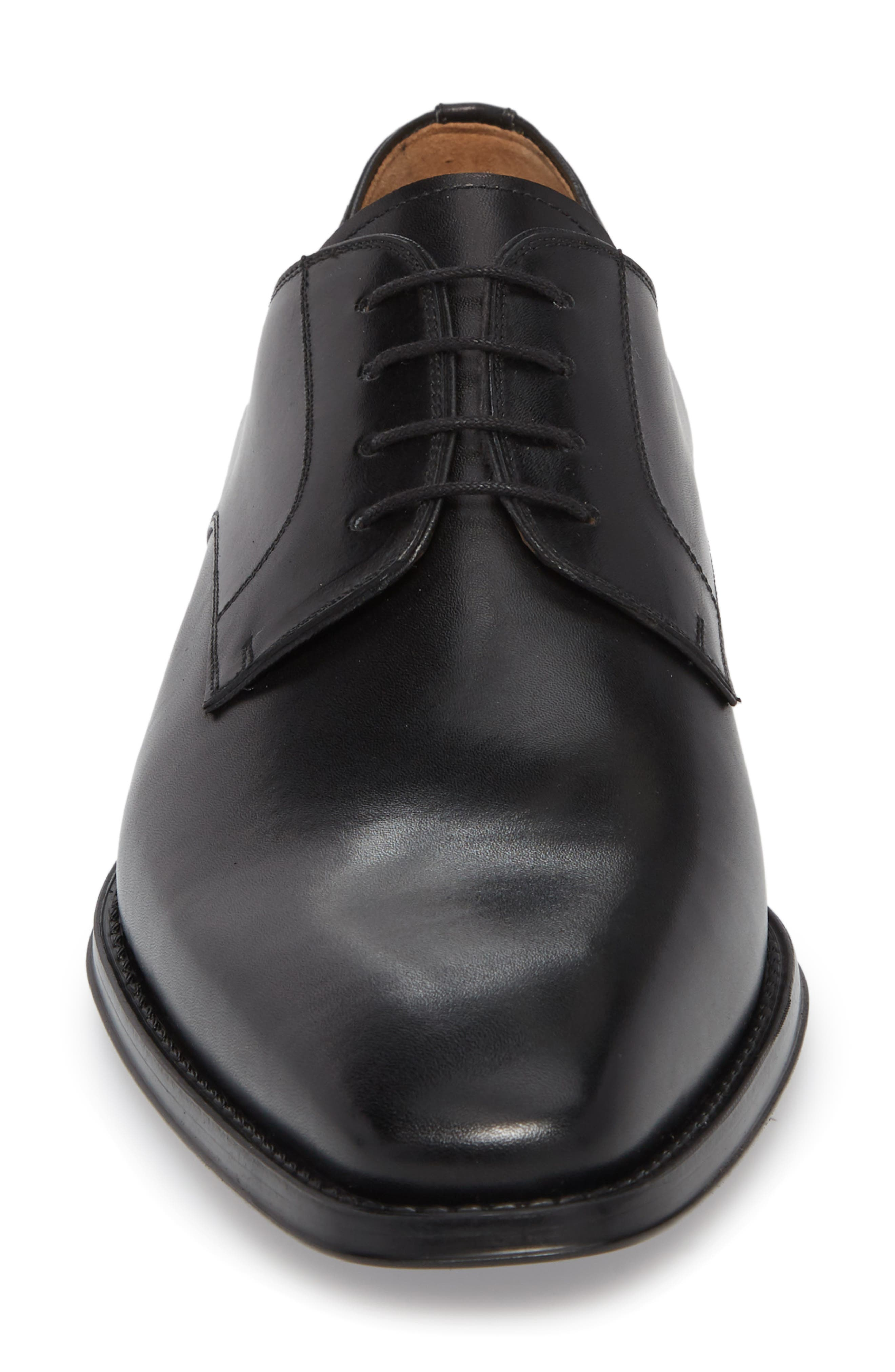 Colo II Plain Toe Derby,                             Alternate thumbnail 4, color,                             BLACK LEATHER