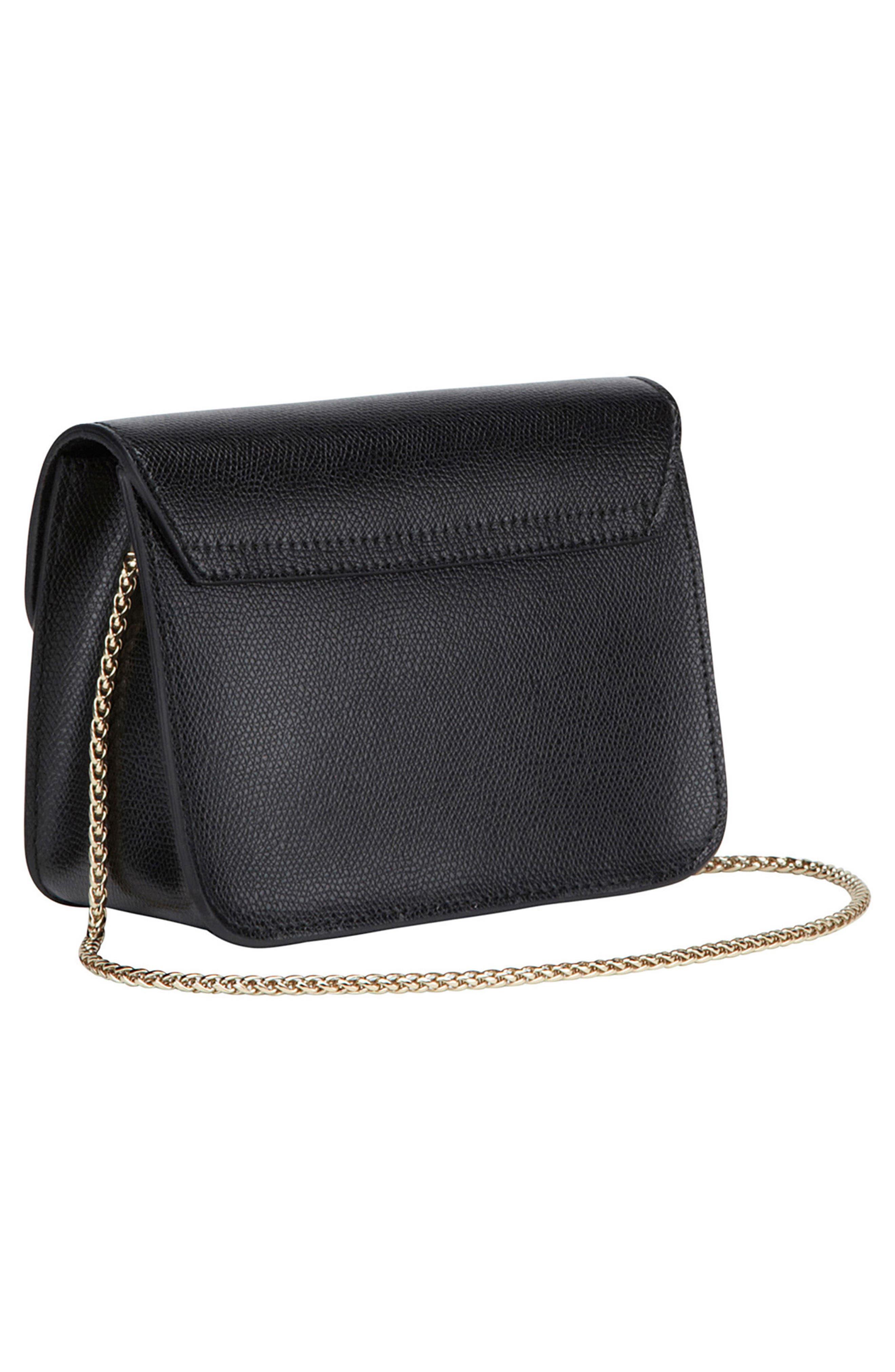 Mini Metropolis Leather Crossbody Bag,                             Alternate thumbnail 3, color,                             004