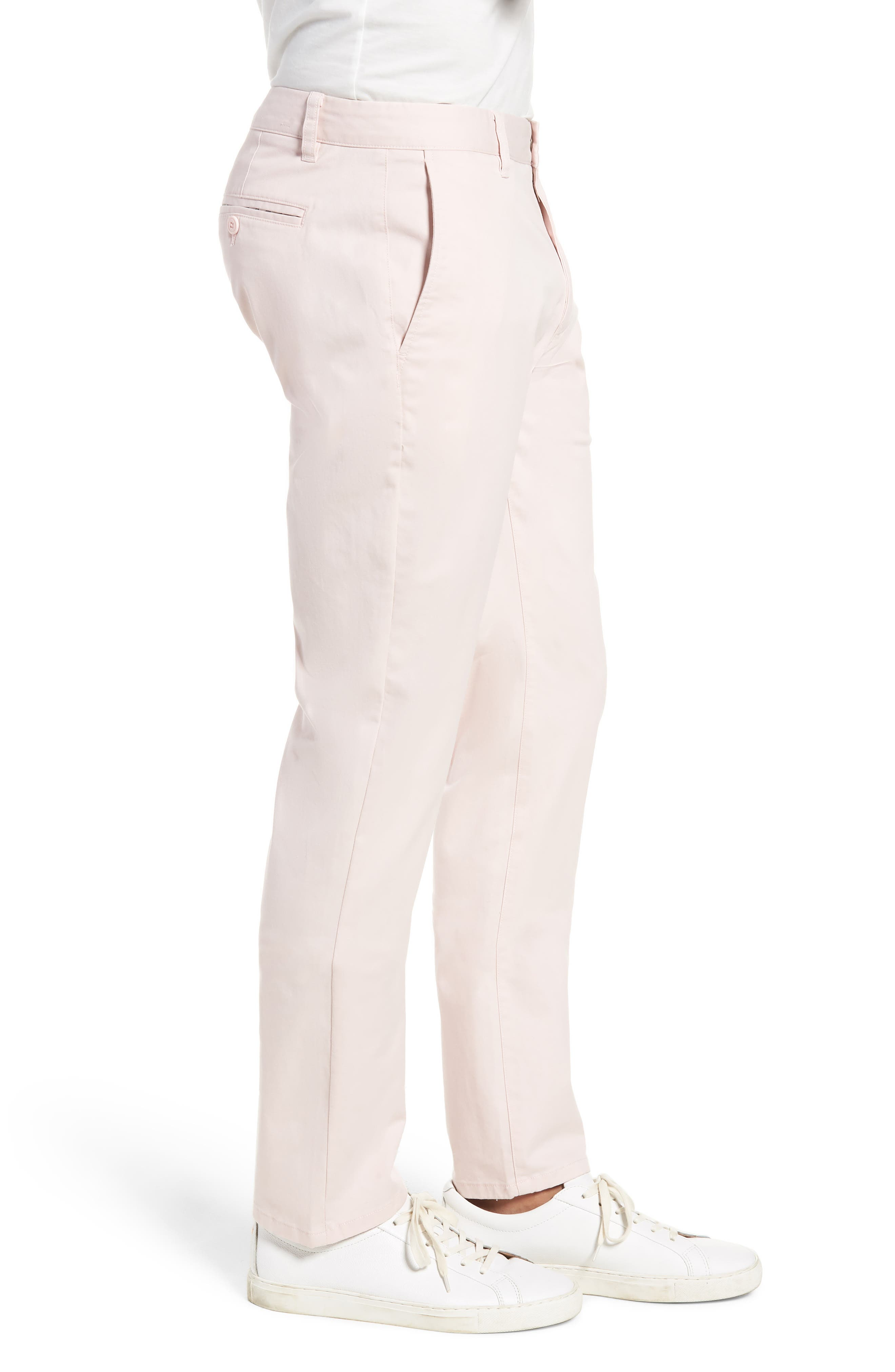 Tailored Fit Washed Stretch Cotton Chinos,                             Alternate thumbnail 89, color,
