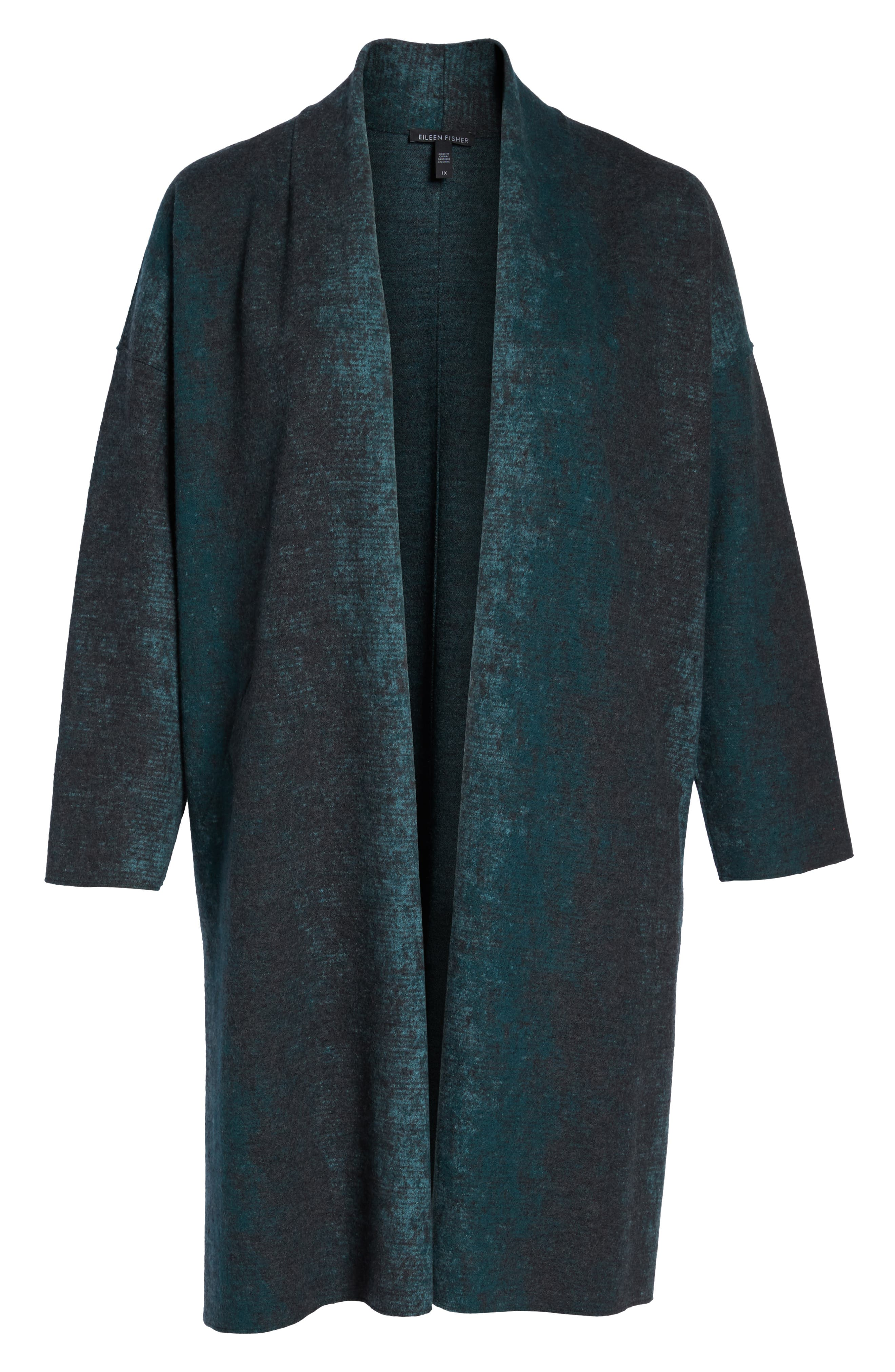 Long Wool Blend Kimono Jacket,                             Alternate thumbnail 6, color,                             PINE