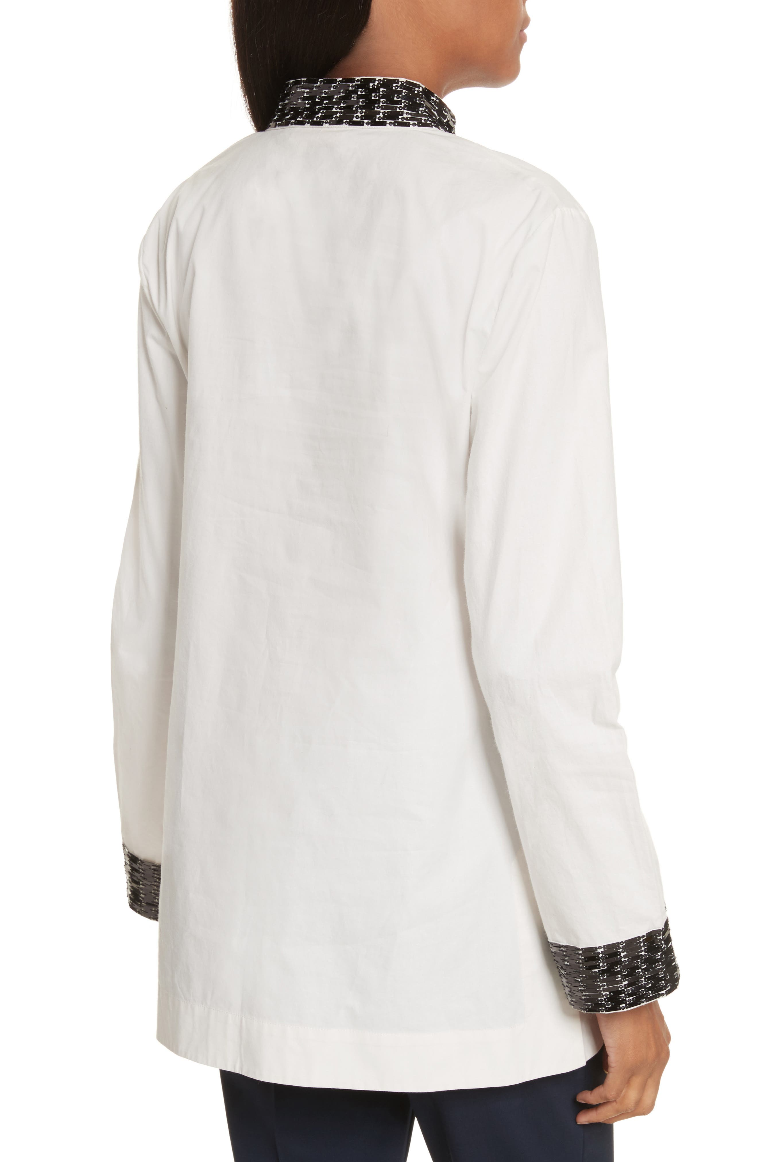 Tory Embellished Cotton Tunic,                             Alternate thumbnail 2, color,                             904