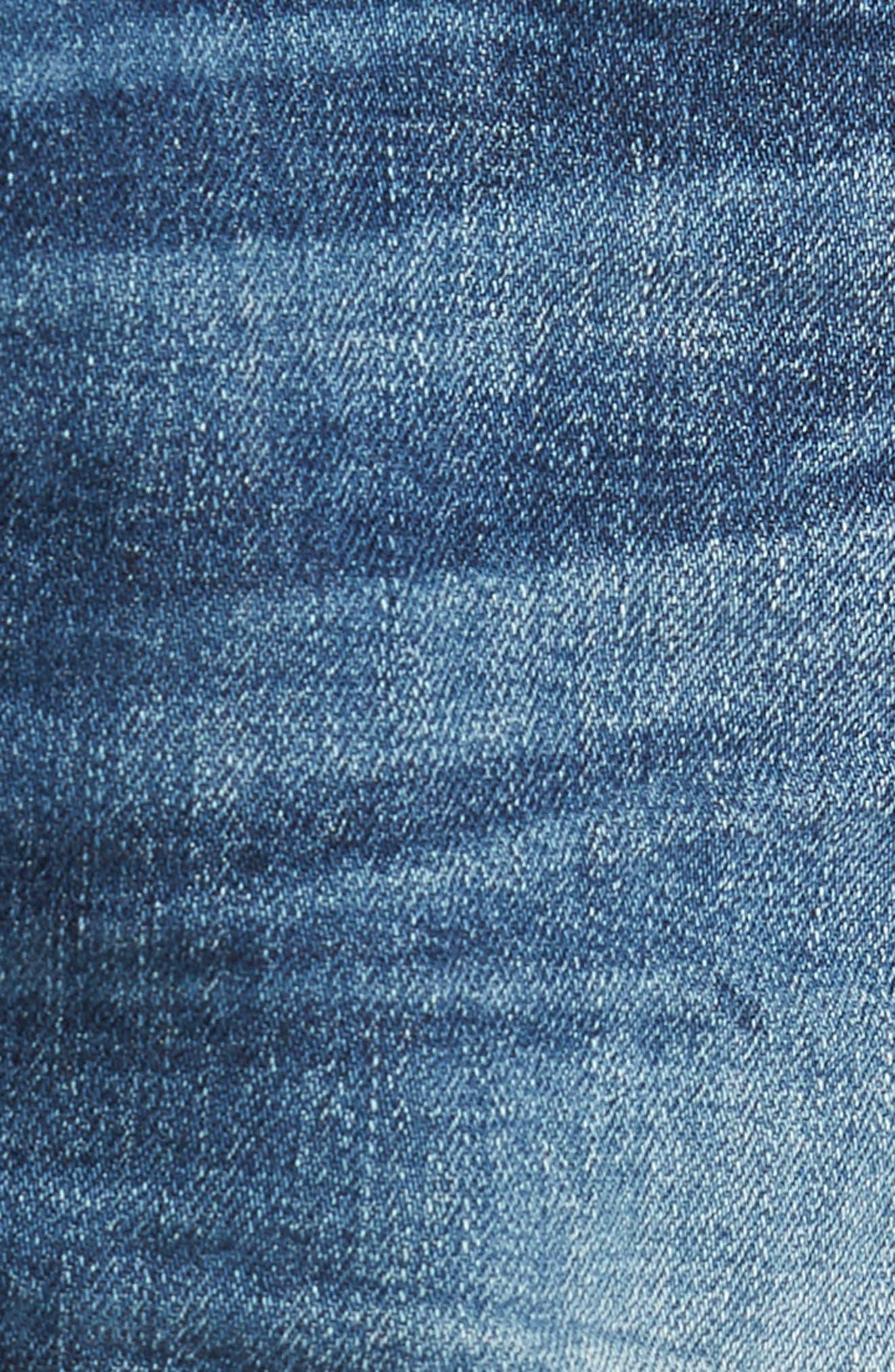 Corey Distressed Slouchy Denim Shorts,                             Alternate thumbnail 6, color,                             423