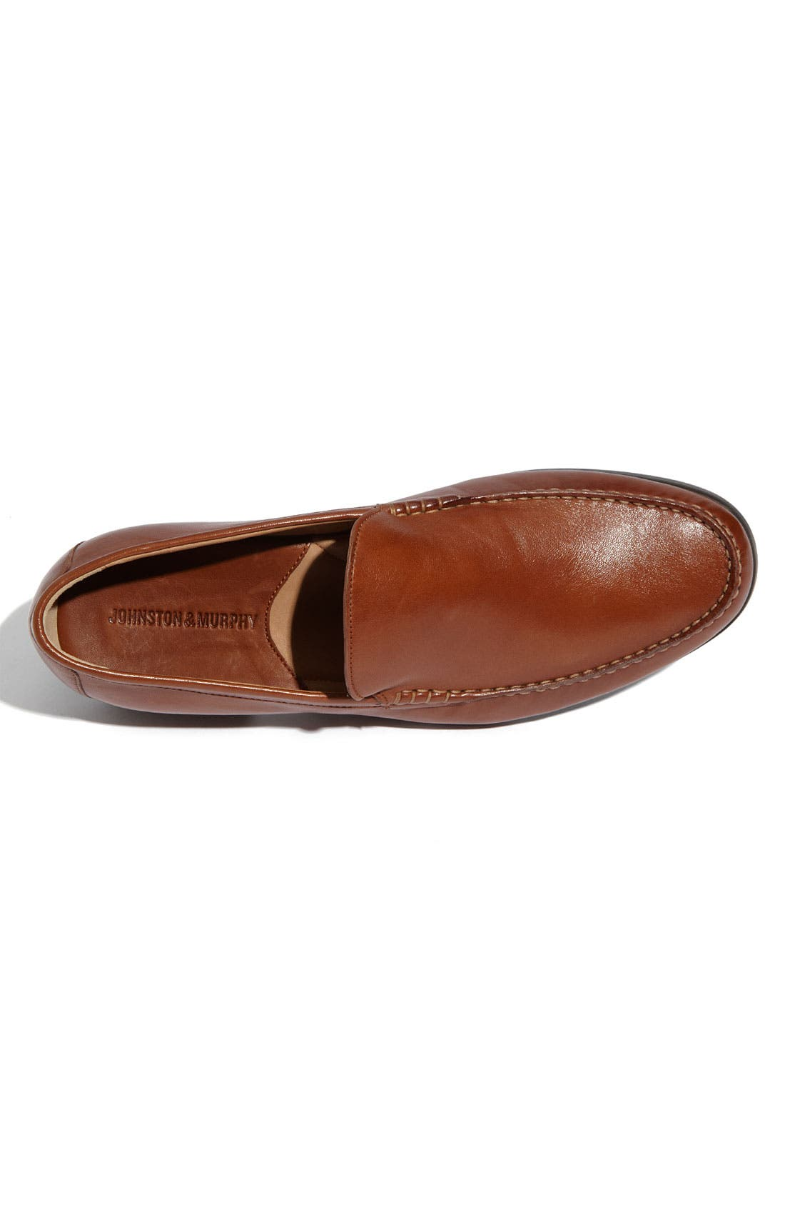 JOHNSTON & MURPHY,                             'Creswell' Venetian Slip-On,                             Alternate thumbnail 3, color,                             COGNAC